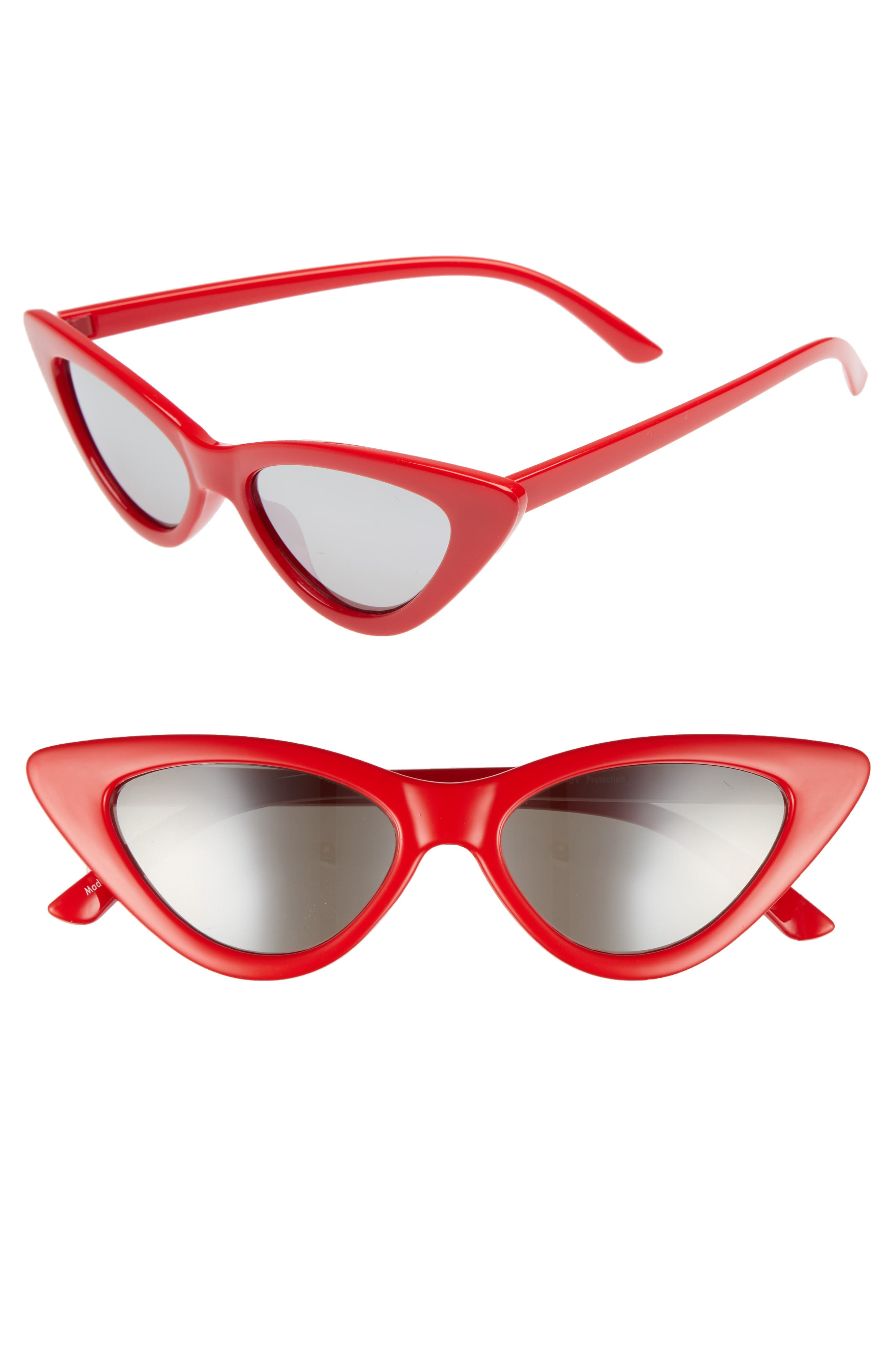 I Spy 53mm Exaggerated Cat Eye Sunglasses,                         Main,                         color, Red