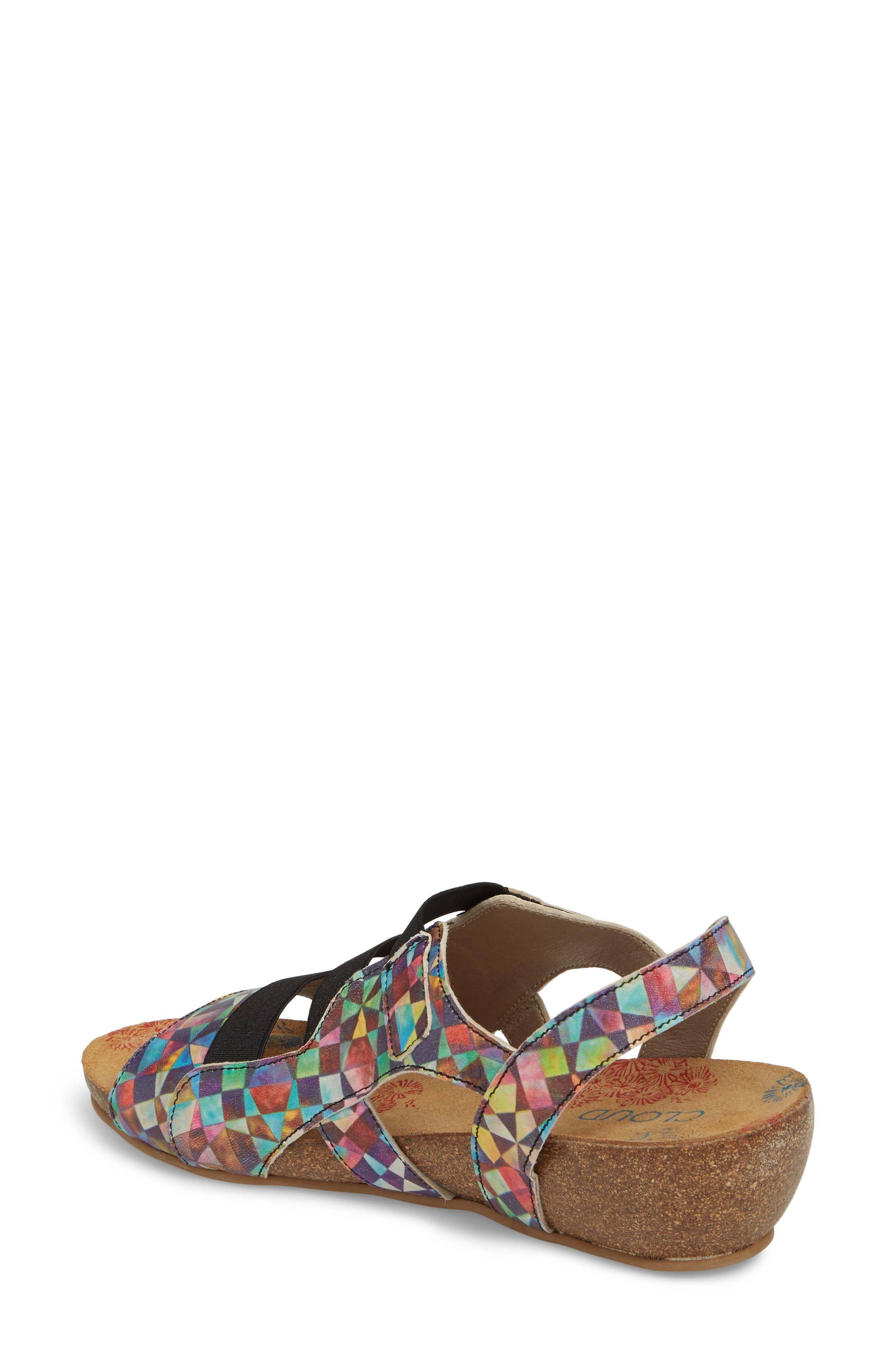 Duffy Wedge Sandal,                             Alternate thumbnail 2, color,                             Mystere Leather