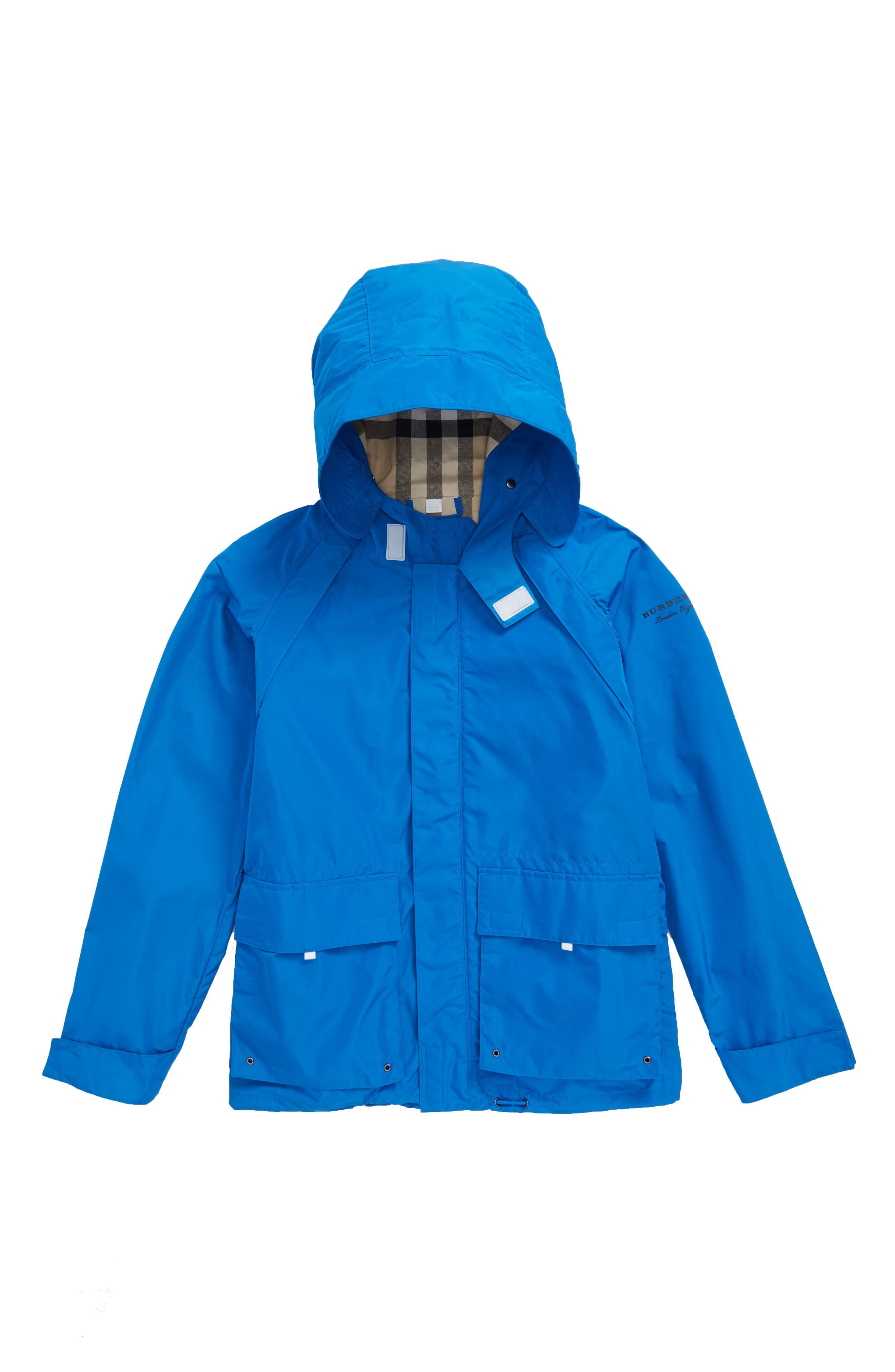 Yately Waterproof Field Jacket,                         Main,                         color, Azure Blue