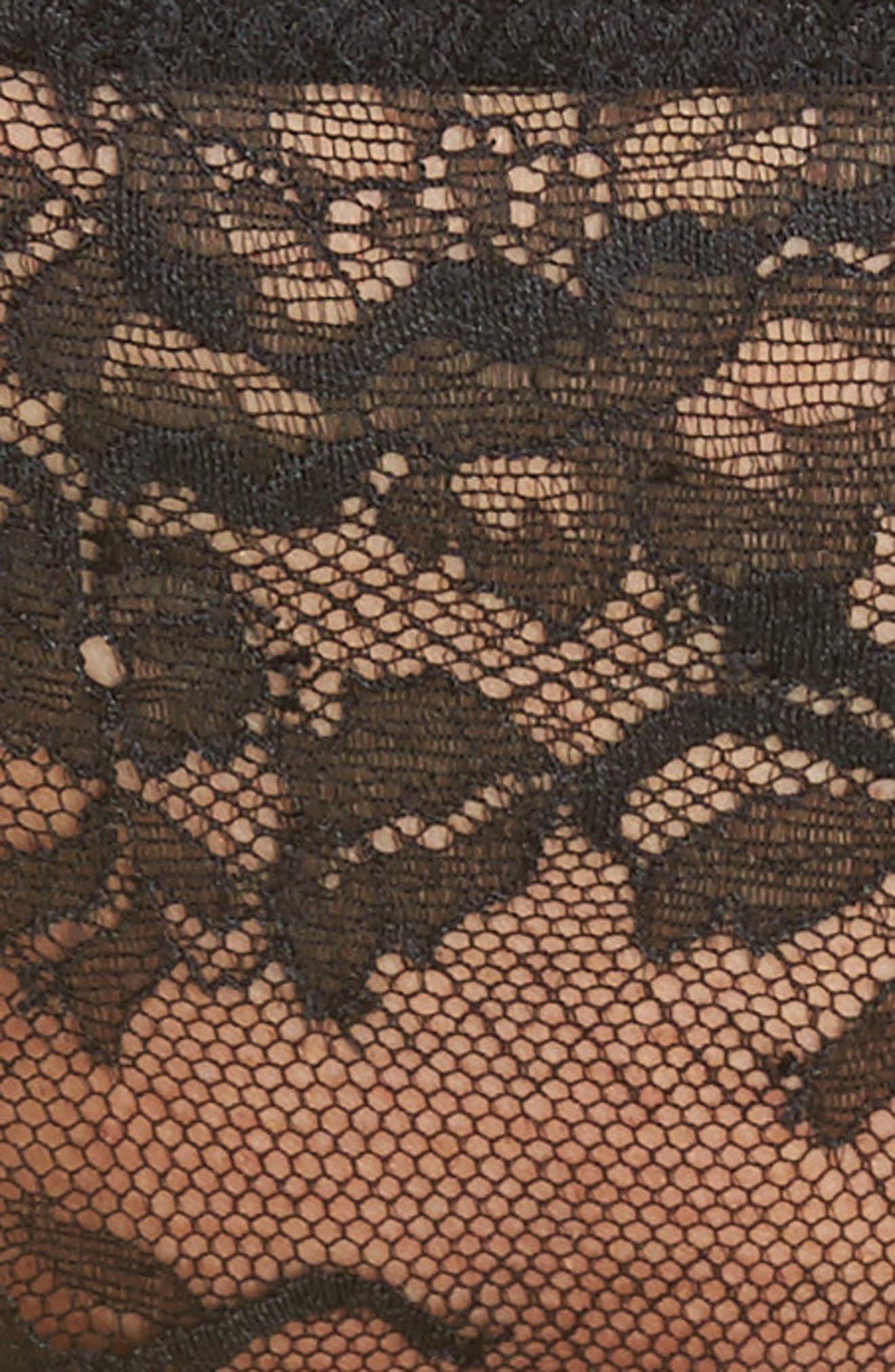 Devotion Lace Tanga,                             Alternate thumbnail 9, color,                             Black/ Coal