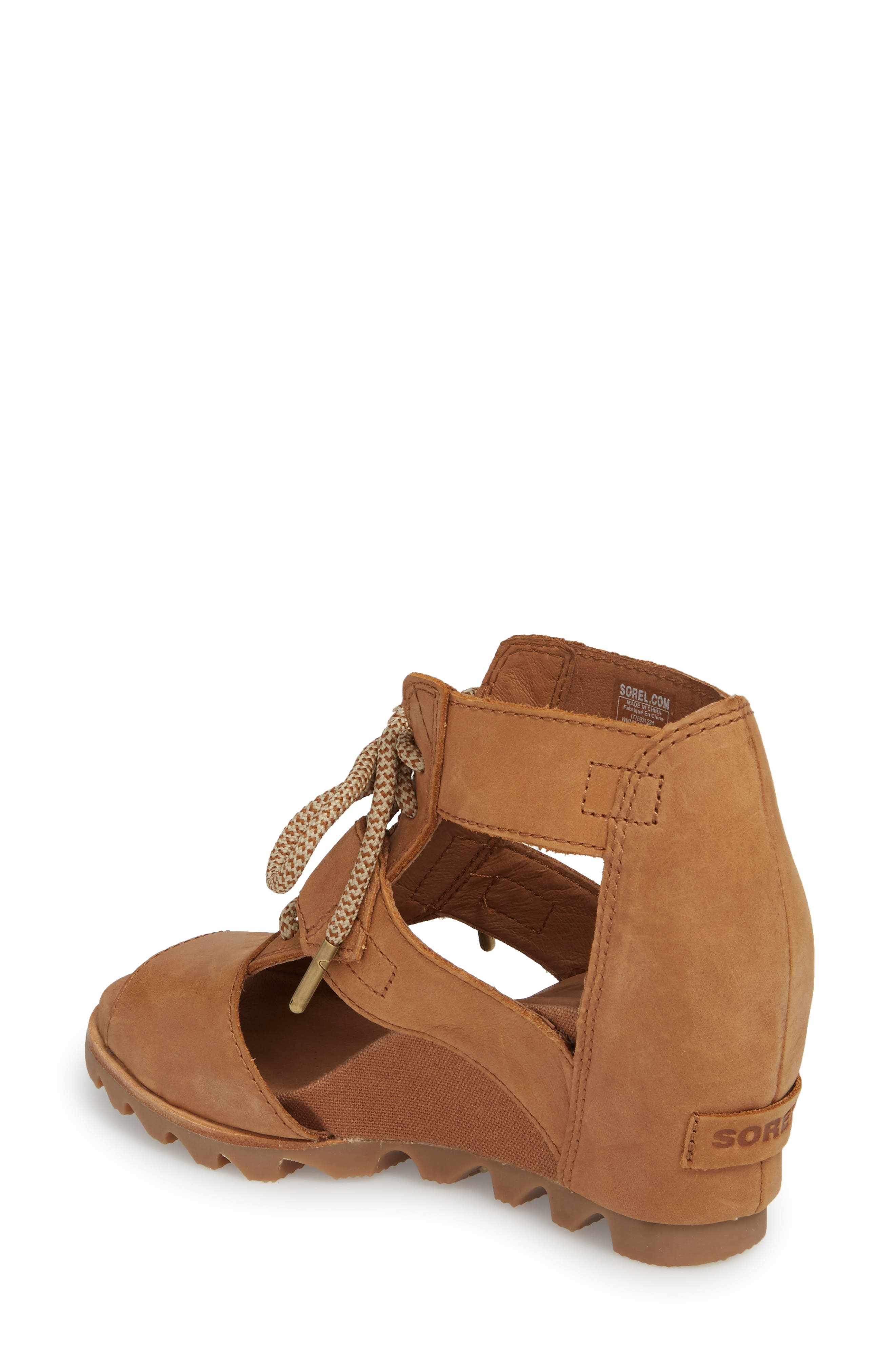 'Joanie' Cage Sandal,                             Alternate thumbnail 2, color,                             Camel Brown