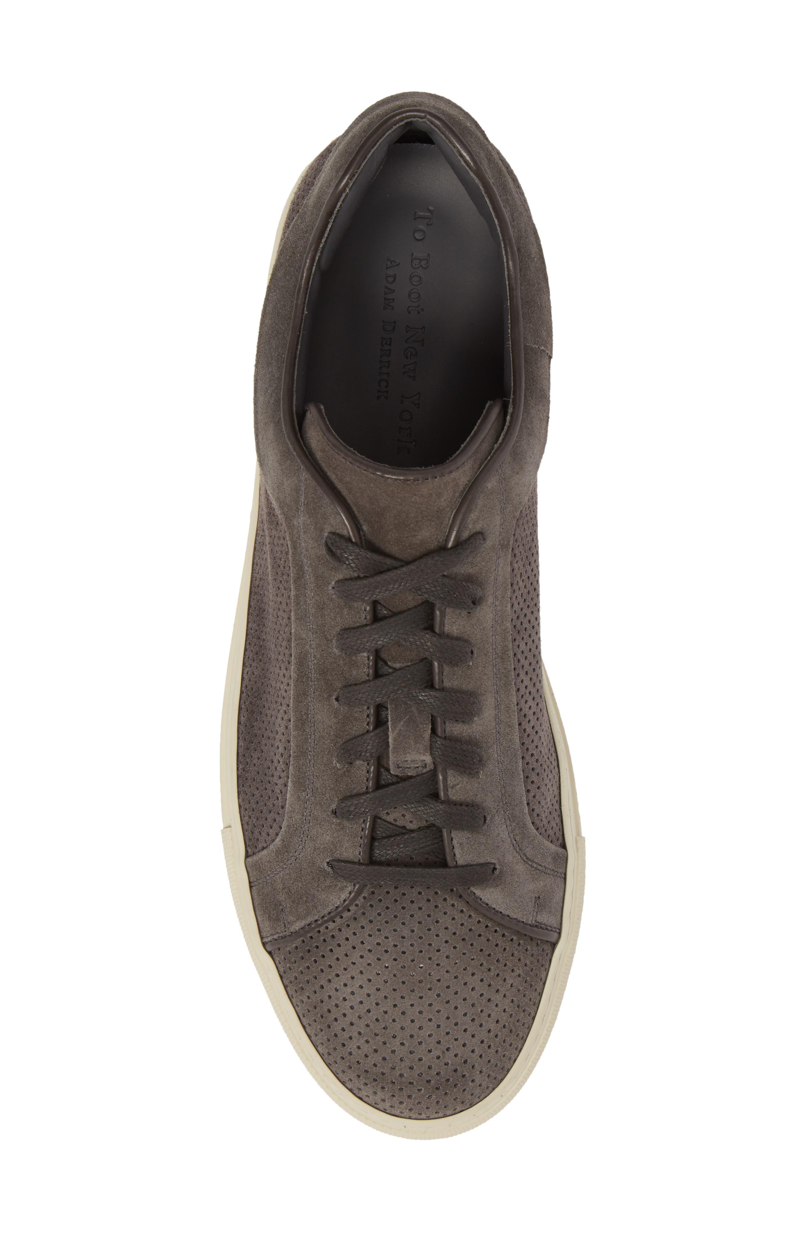 Hendrick Perforated Sneaker,                             Alternate thumbnail 5, color,                             Lavagna