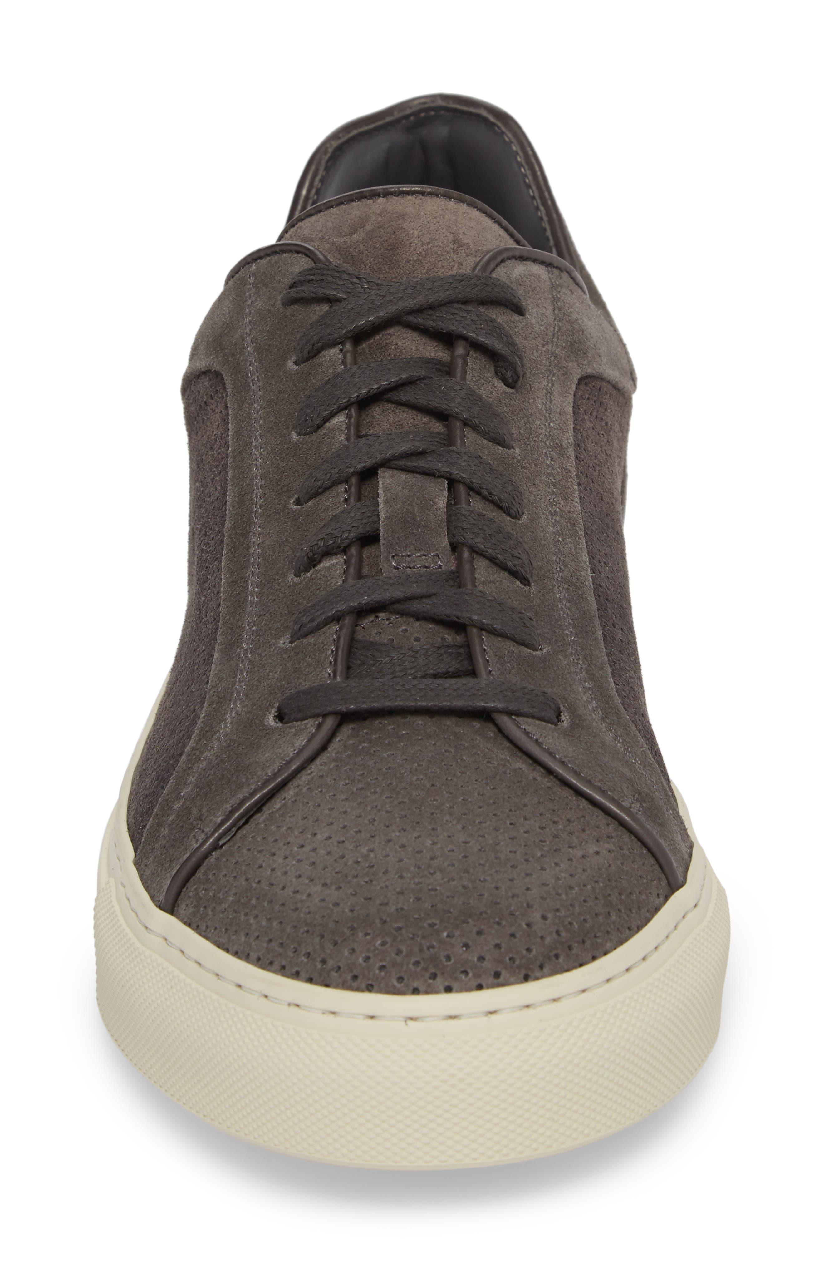 Hendrick Perforated Sneaker,                             Alternate thumbnail 4, color,                             Lavagna