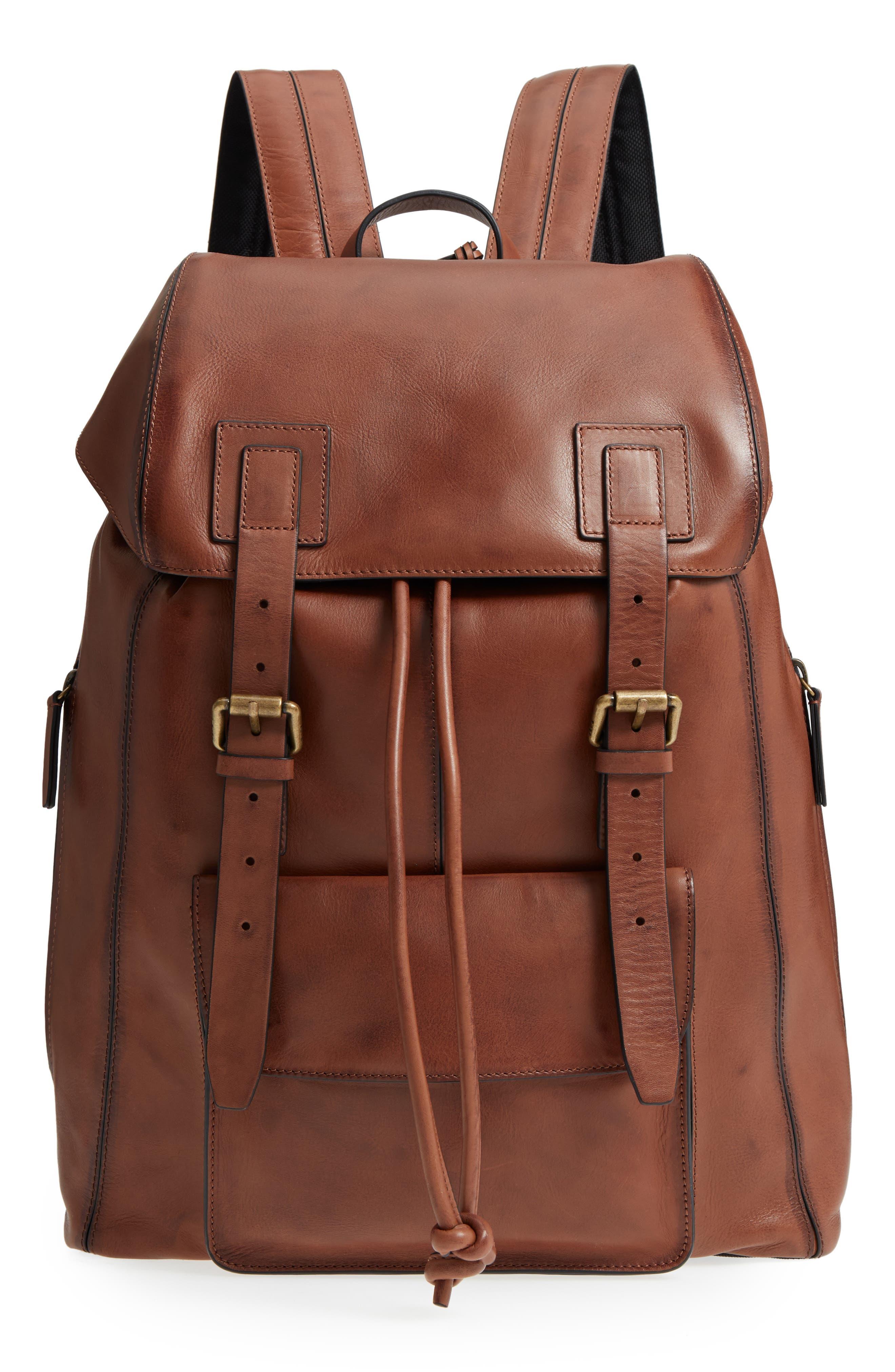John Varvatos Star USA Heritage Leather Backpack