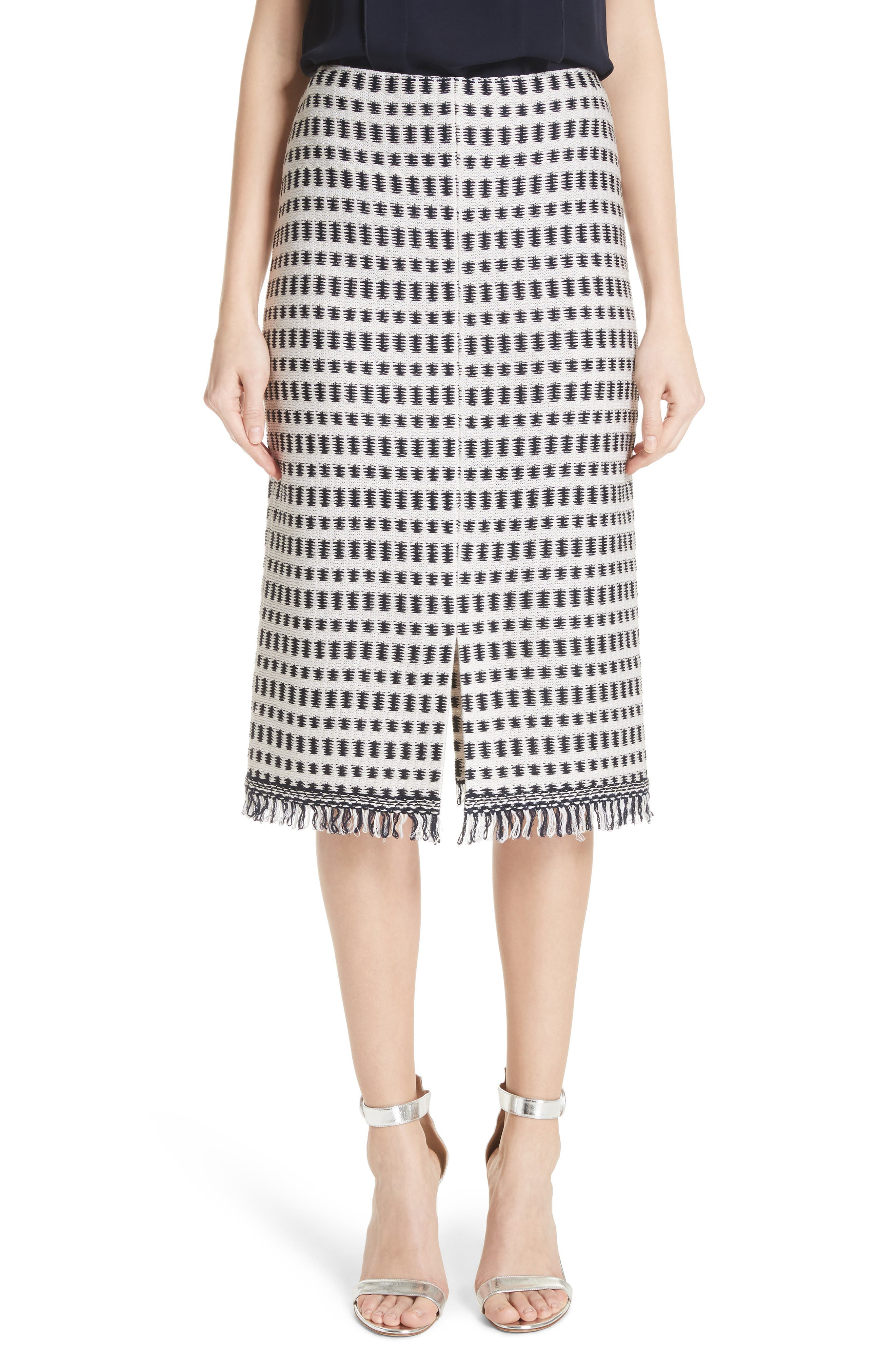 THATCHED GRID KNIT SKIRT