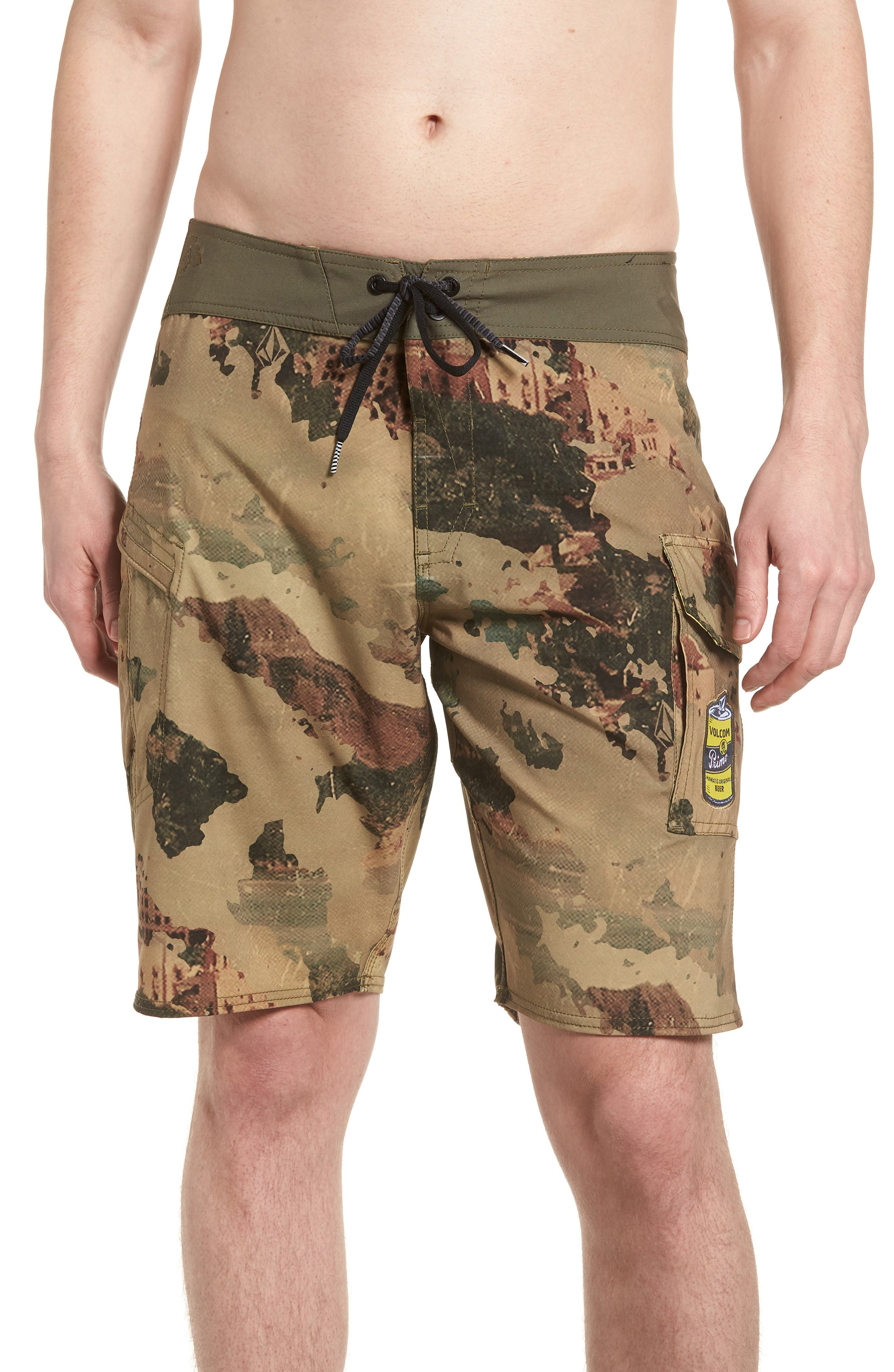 Primo Beer Board Shorts,                             Main thumbnail 1, color,                             Camouflage