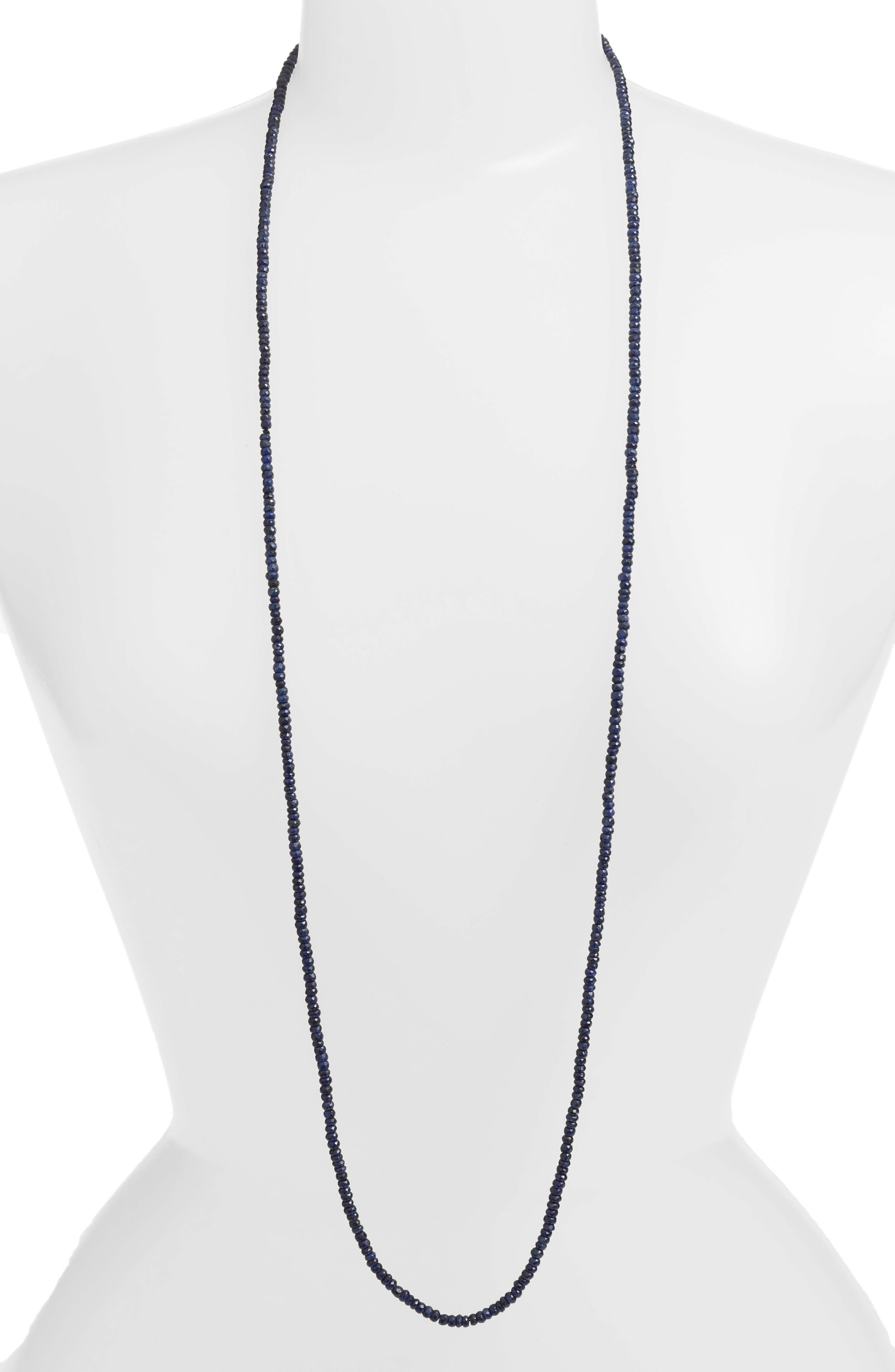 Topanga Gemstone Necklace,                             Main thumbnail 1, color,                             Sapphire