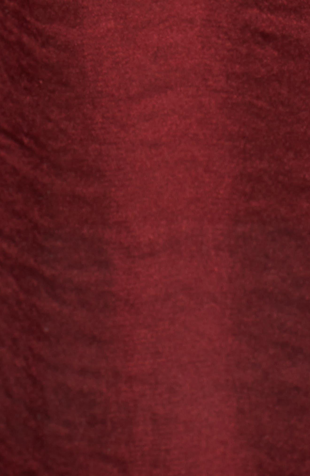 Mirah Off the Shoulder Satin Top,                             Alternate thumbnail 6, color,                             Cranberry