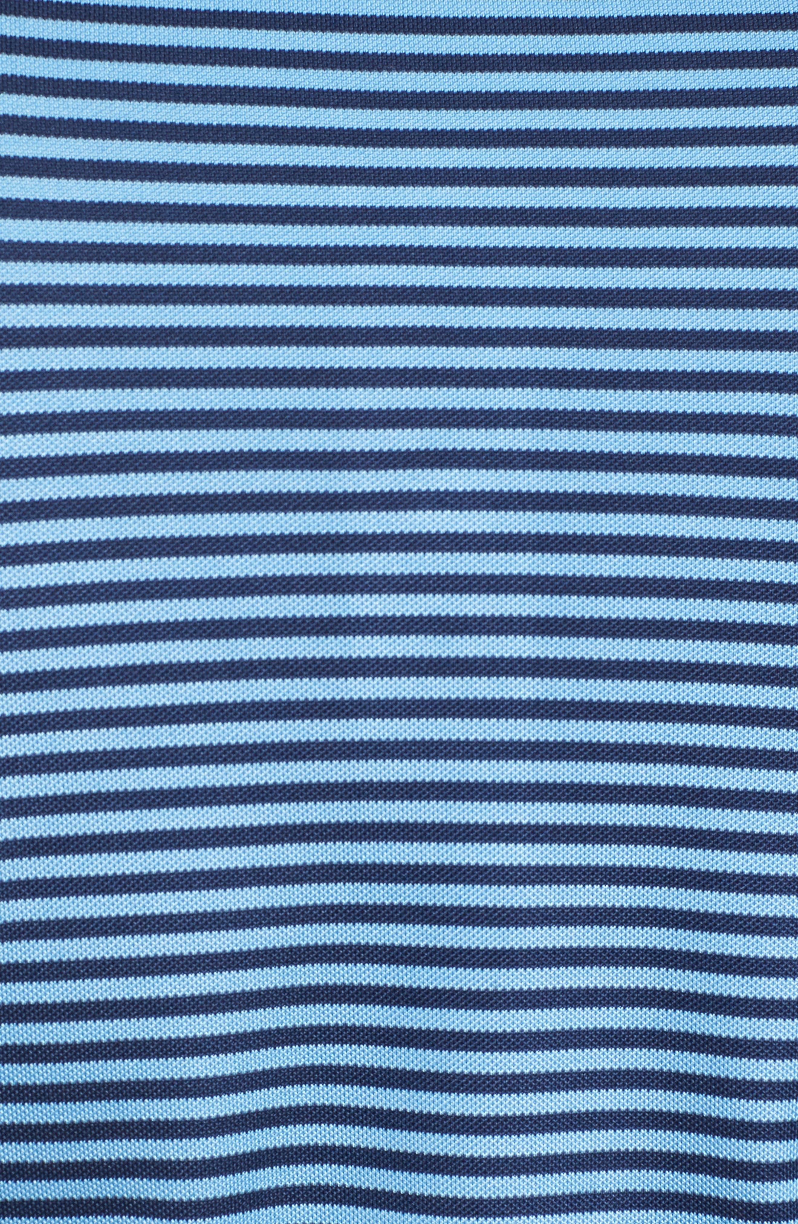 XH2O Feed Stripe Stretch Golf Polo,                             Alternate thumbnail 5, color,                             Sky Blue