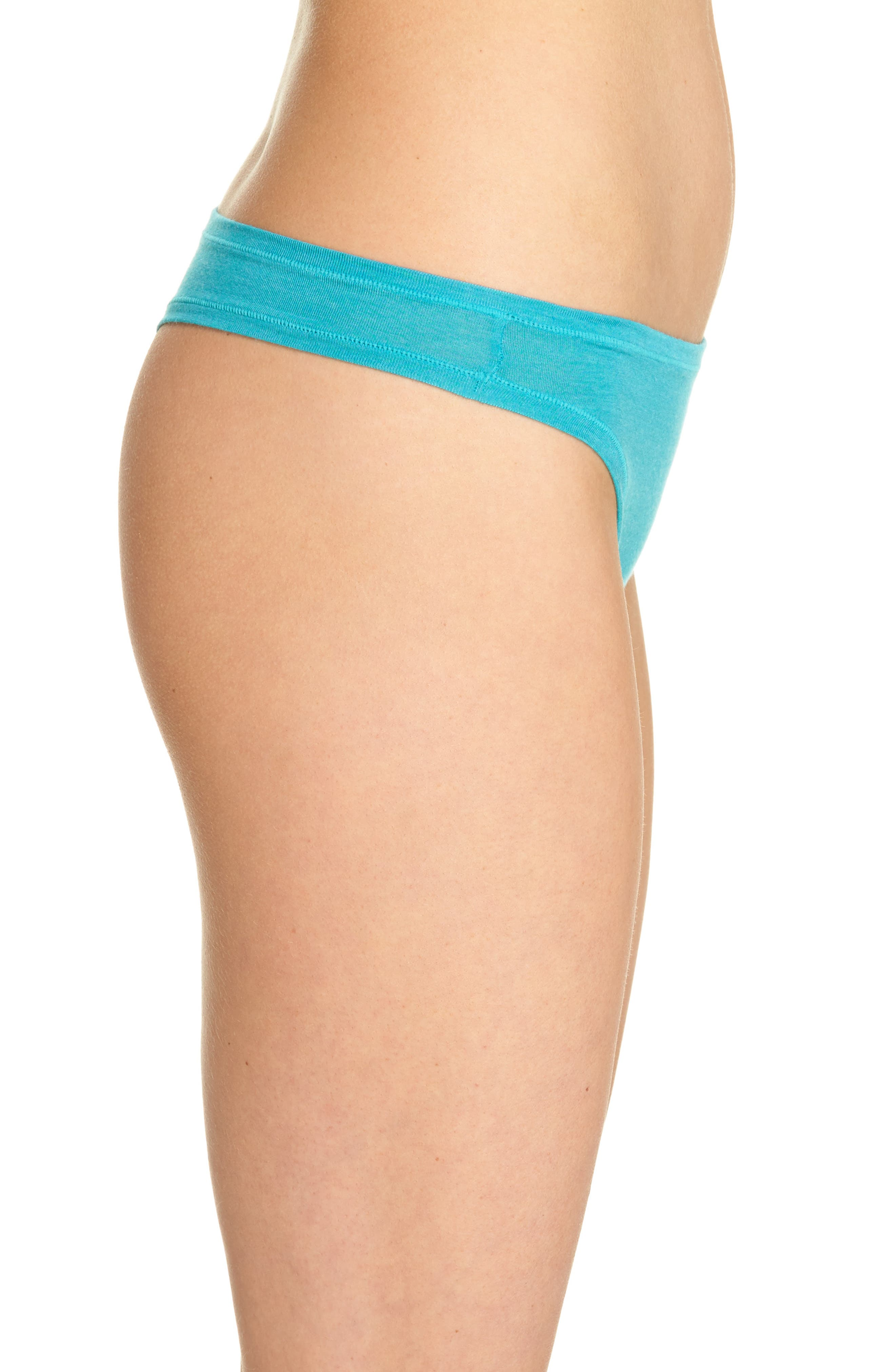 Bliss Essence Thong,                             Alternate thumbnail 3, color,                             Turquoise