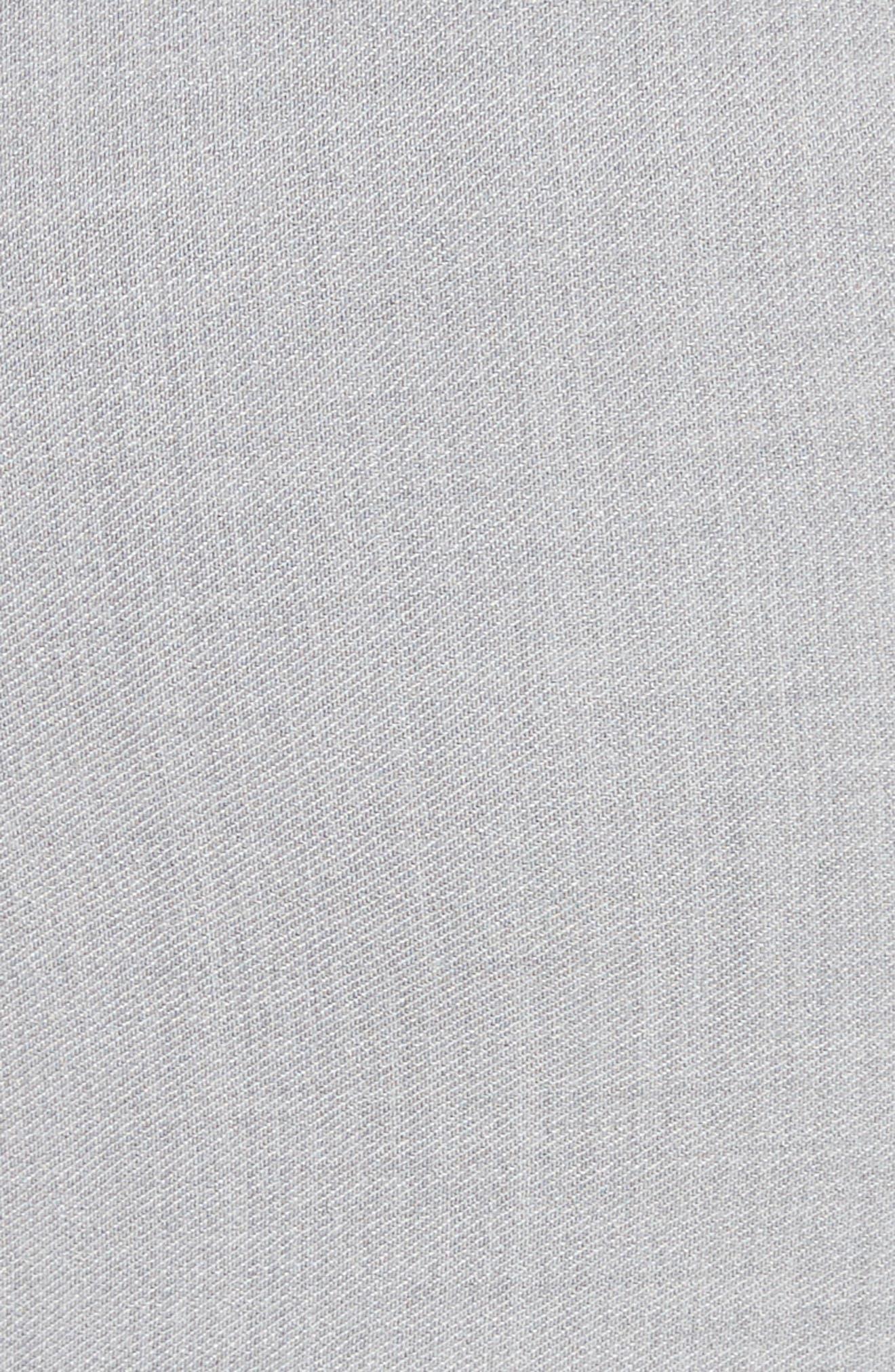 Raw Hem Tie Front Skirt,                             Alternate thumbnail 5, color,                             Light Grey Melange