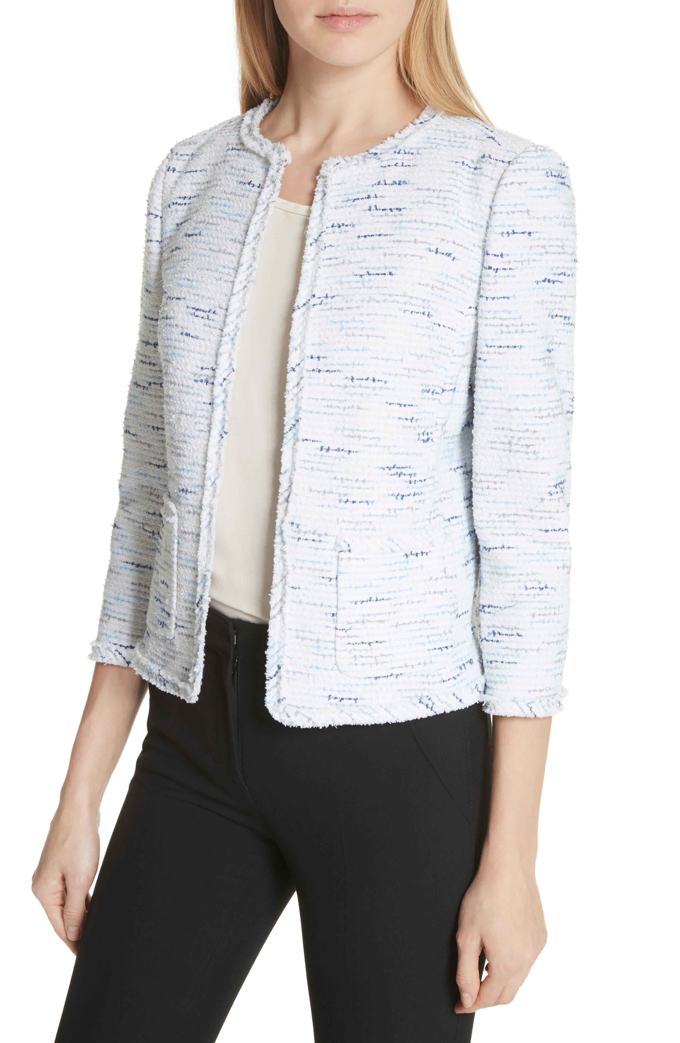 tweed jacket,                             Alternate thumbnail 4, color,                             Multi