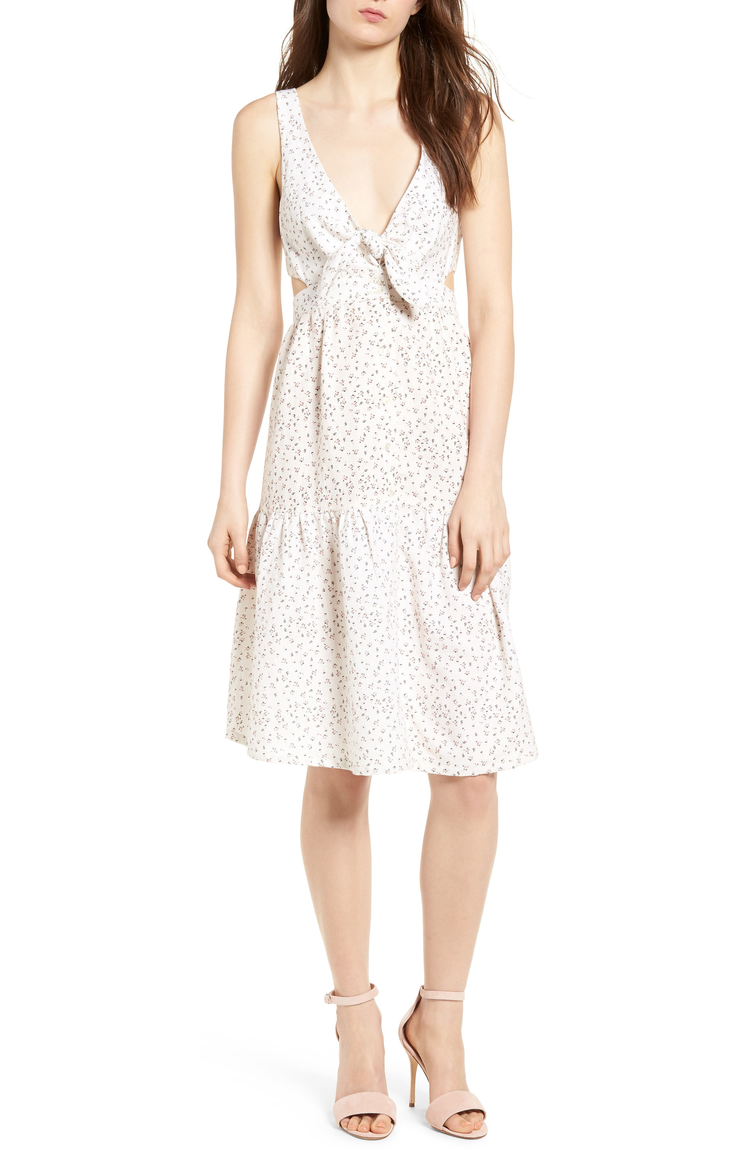 Alternate Image 1 Selected - McGuire Palizzi Cutout Tie Front Dress