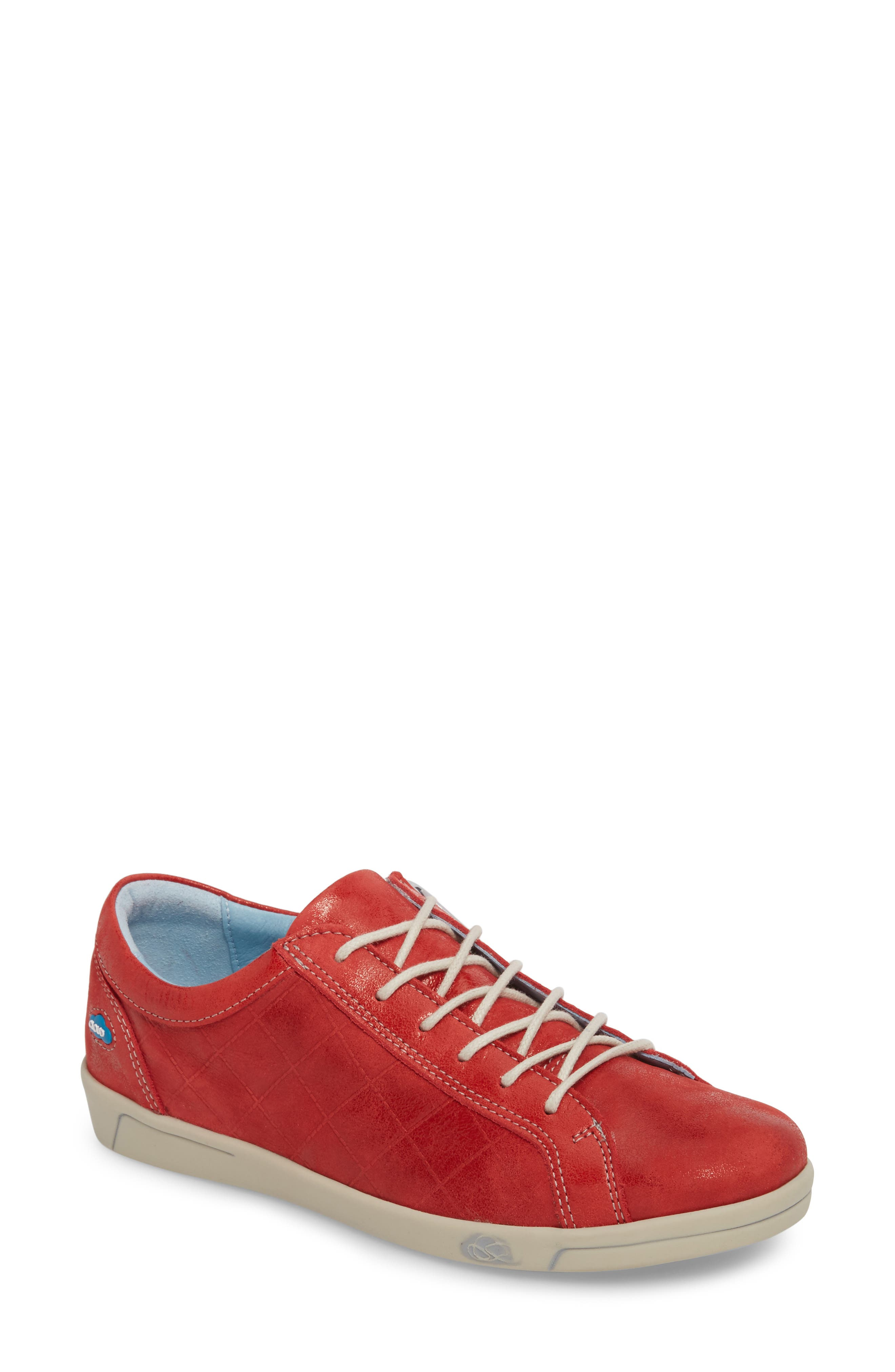 Alessia Sneaker,                             Main thumbnail 1, color,                             Red Stinger Leather