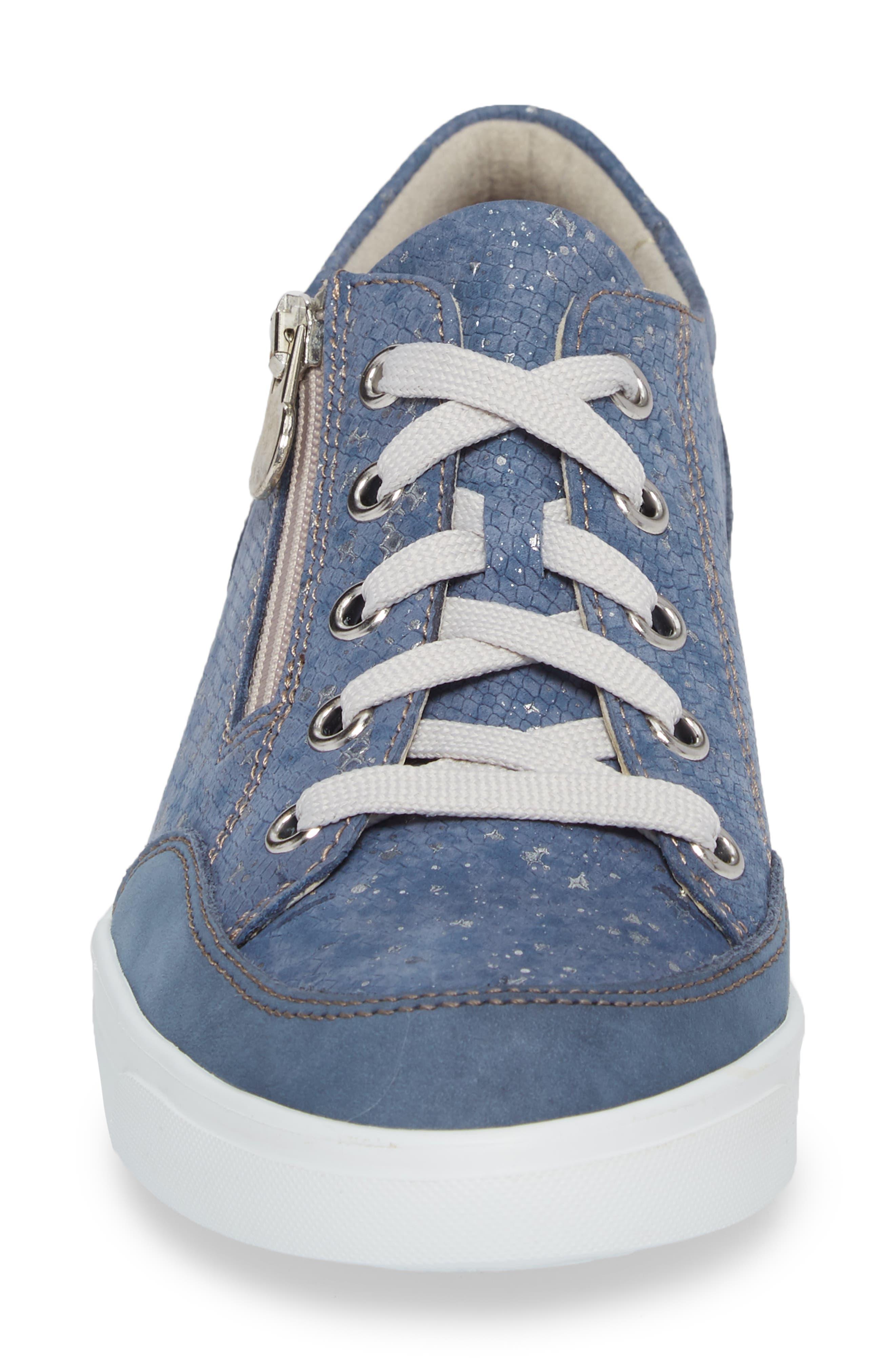 Gabbie Sneaker,                             Alternate thumbnail 4, color,                             Denim Metallic Print