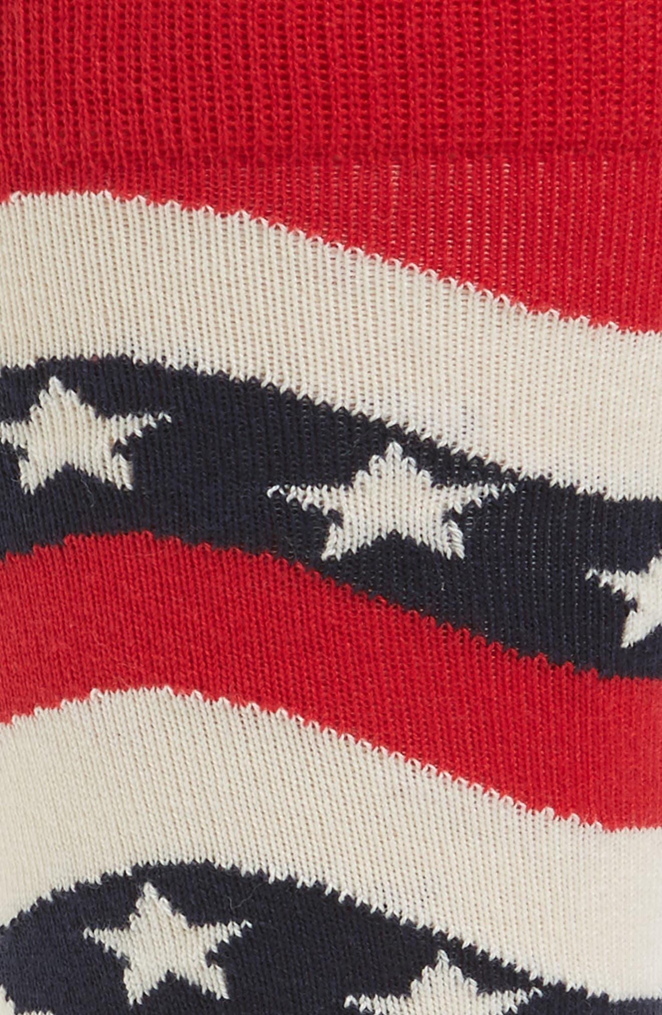 Wavy Socks,                             Alternate thumbnail 2, color,                             Navy Multi