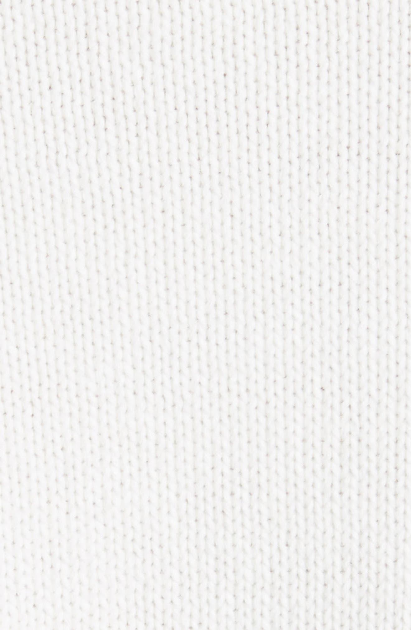 Barin Pineapple Cotton Sweater,                             Alternate thumbnail 5, color,                             Porcelain