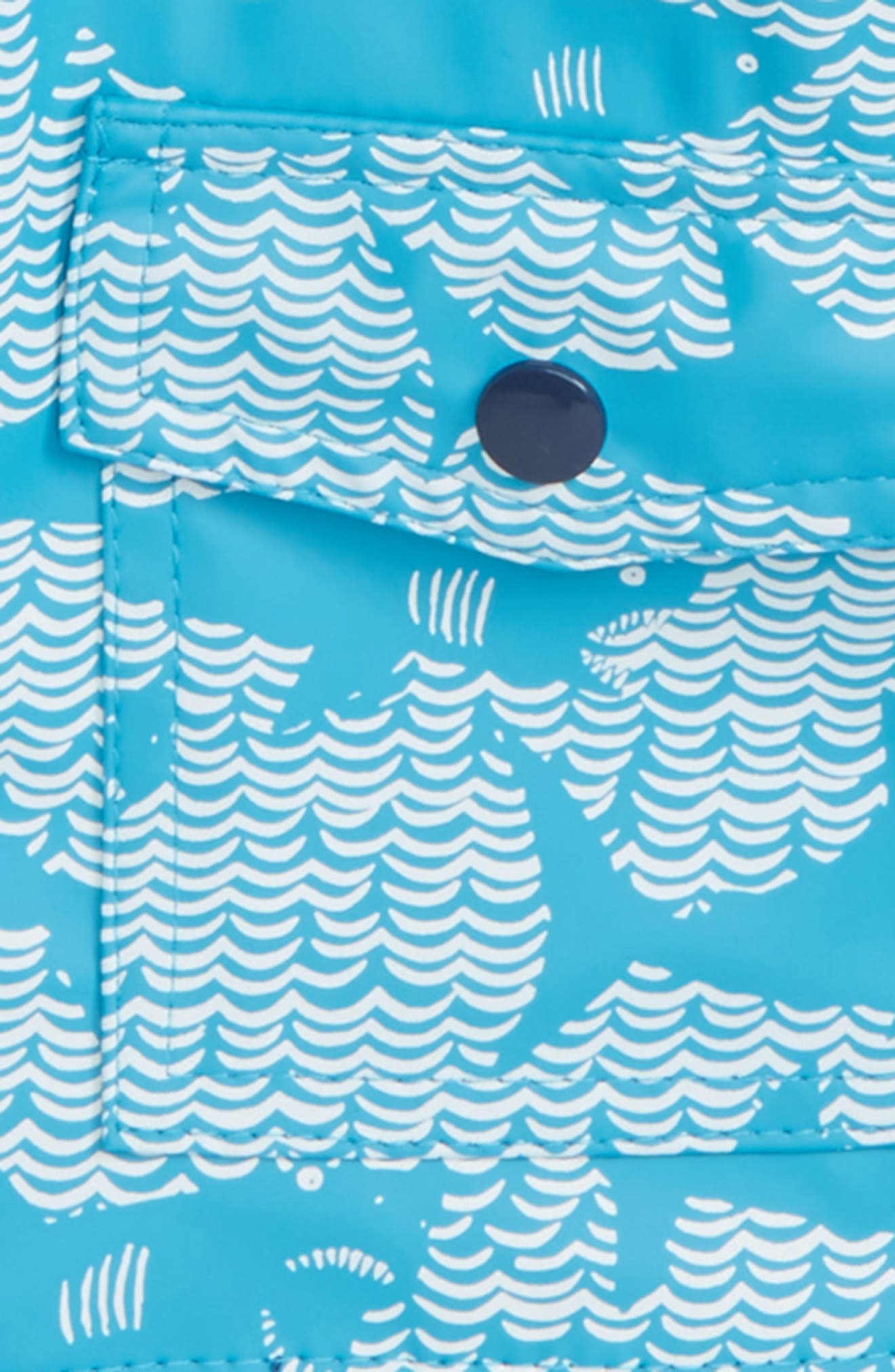 Shark Alley Hooded Raincoat,                             Alternate thumbnail 2, color,                             Shark Alley