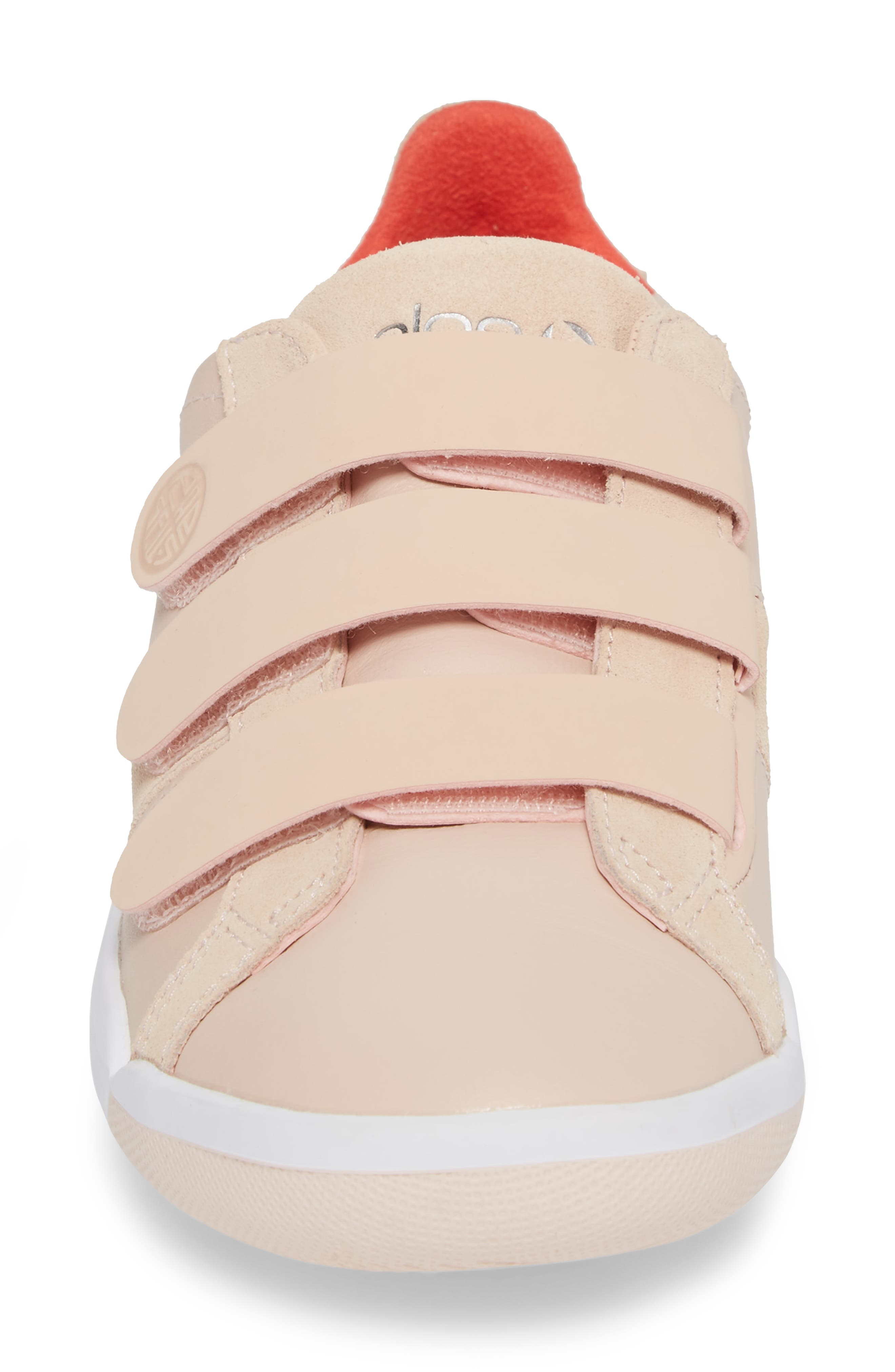 Larkin Sneaker,                             Alternate thumbnail 4, color,                             Cameo Rose Leather