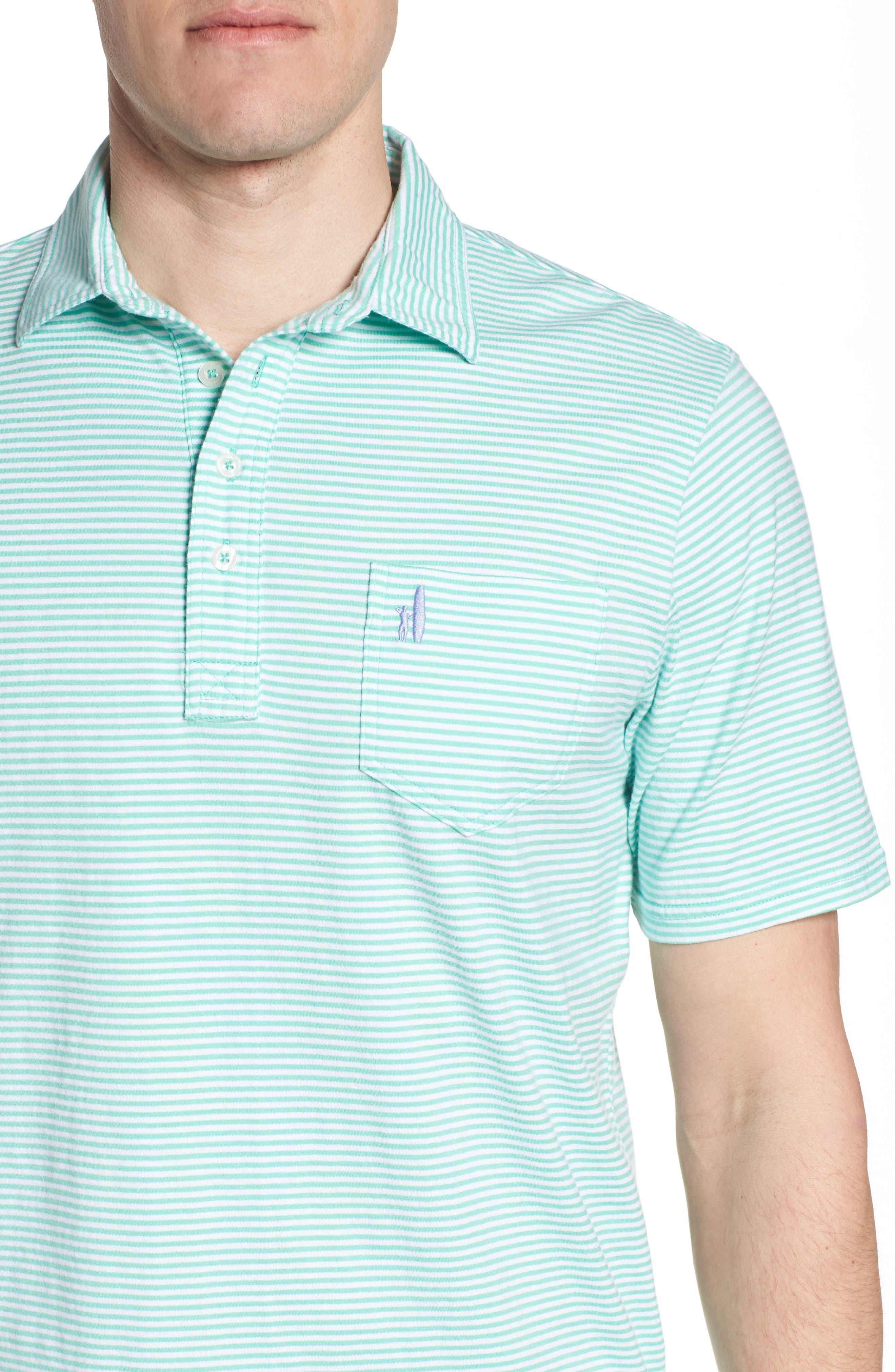 Jack Stripe Jersey Polo,                             Alternate thumbnail 4, color,                             Fern