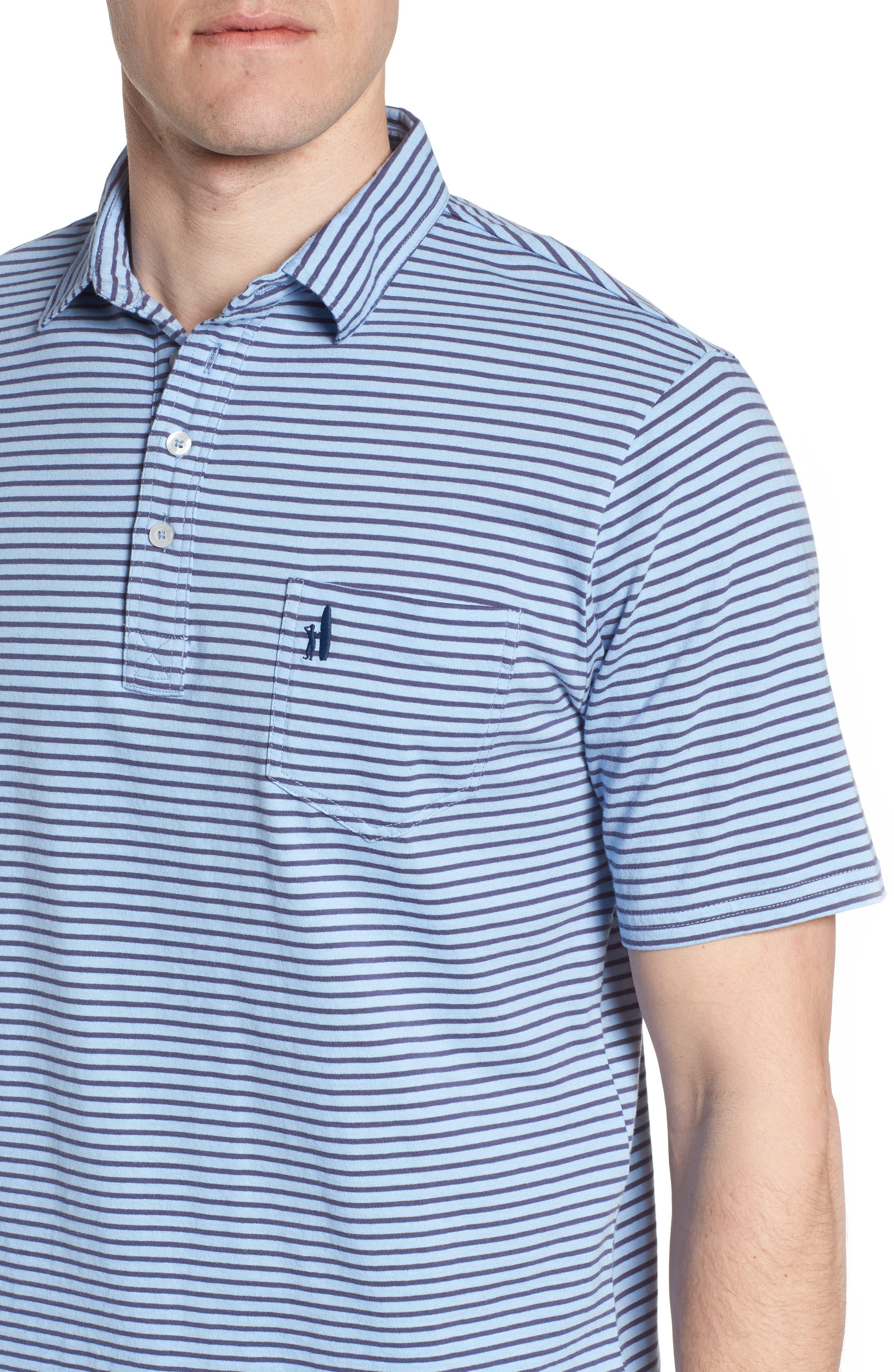 Macon Regular Fit Stripe Polo,                             Alternate thumbnail 4, color,                             Vista