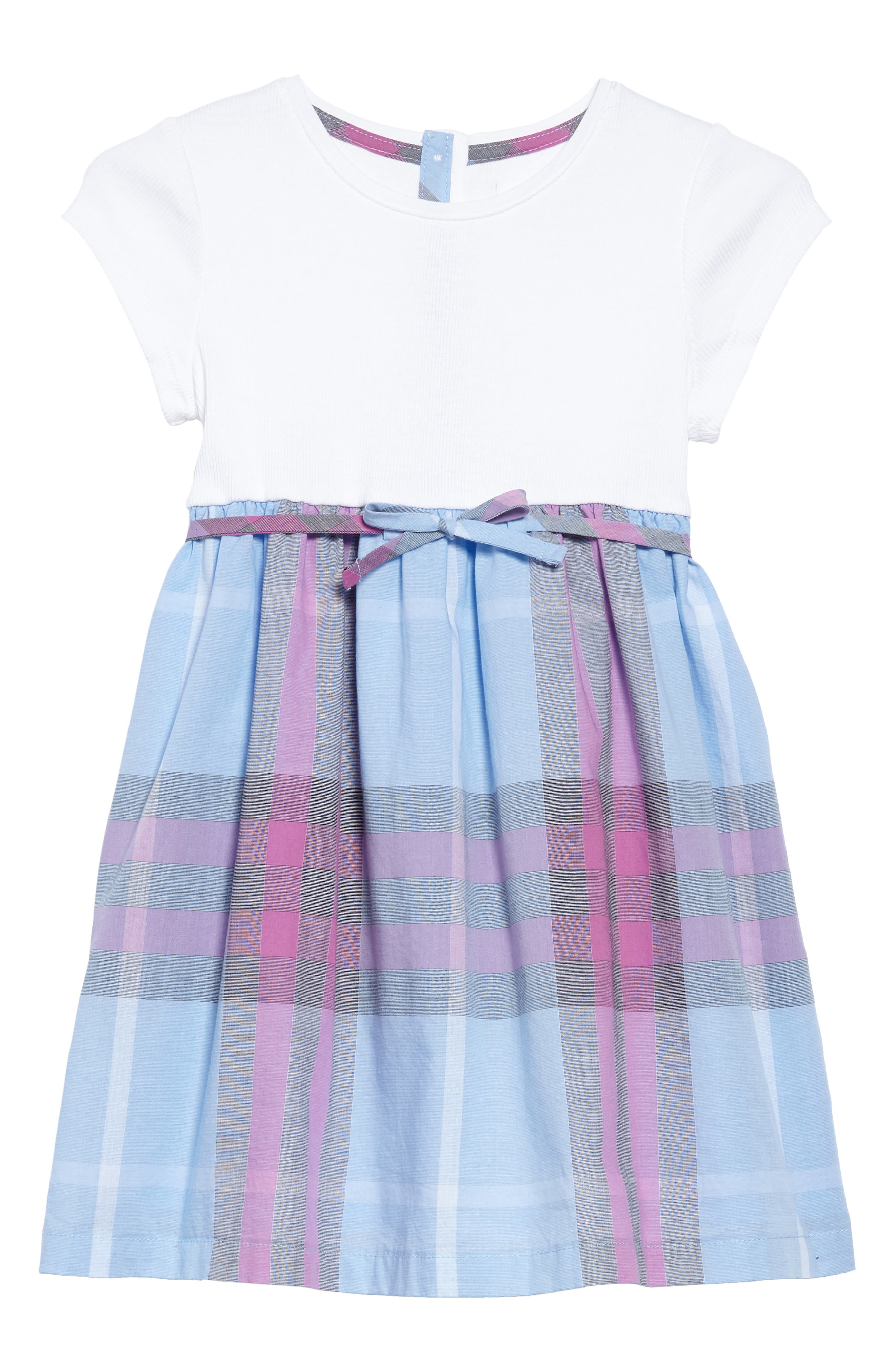 Rosey Check Dress,                             Main thumbnail 1, color,                             Chalk Blue