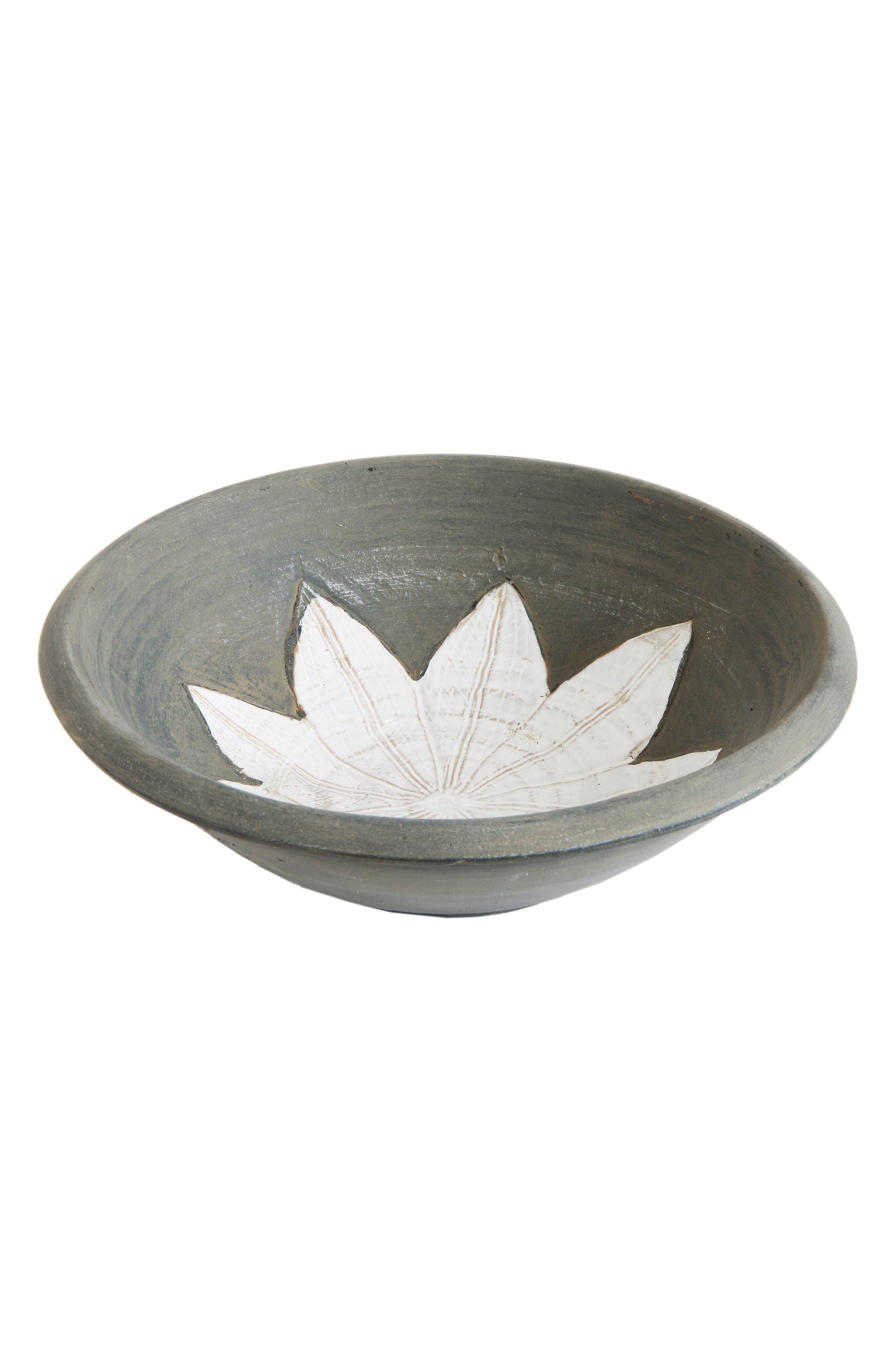 Terra Cotta Bowl,                             Main thumbnail 1, color,                             Grey