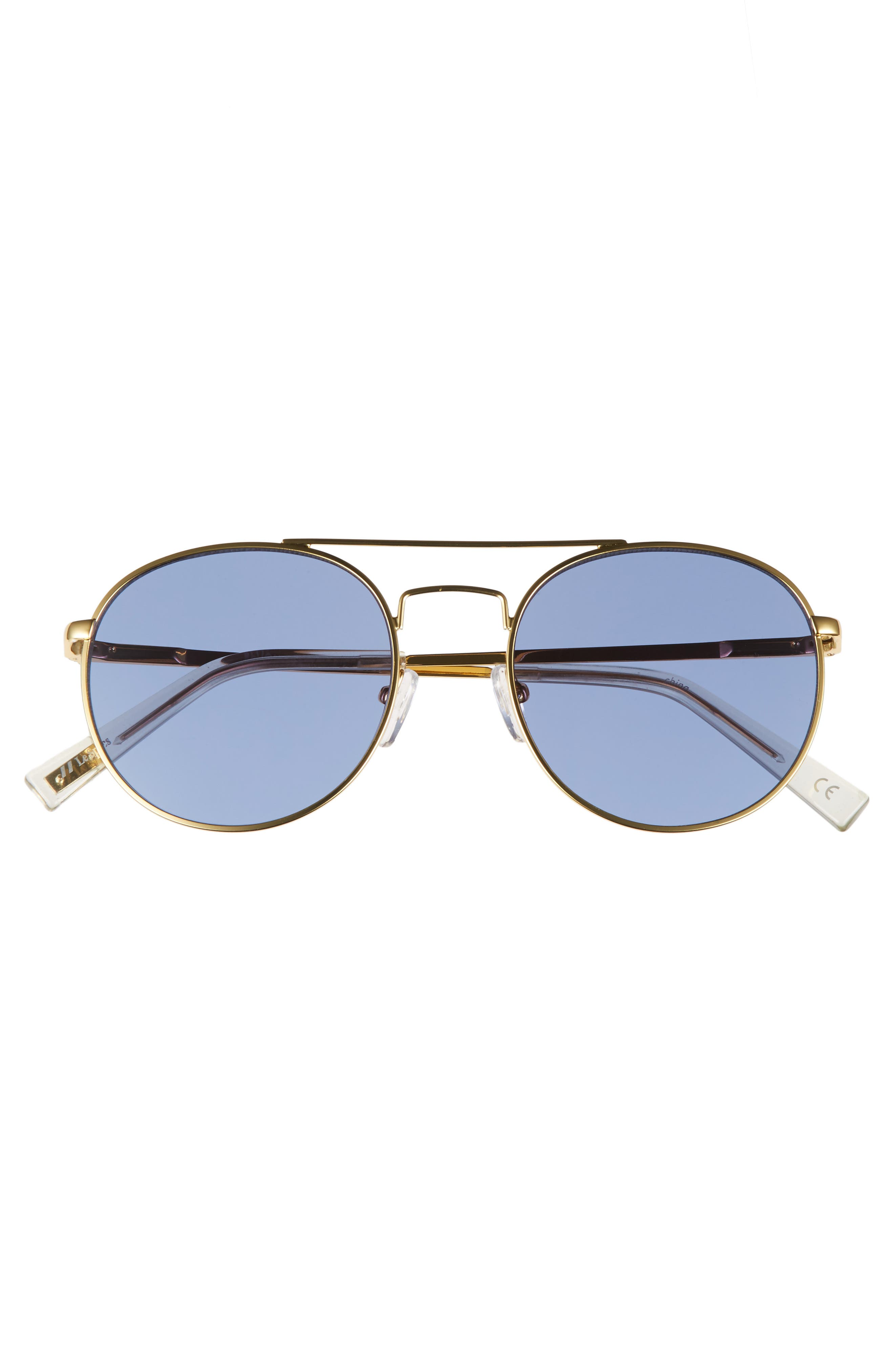 Revolution 53mm Aviator Sunglasses,                             Alternate thumbnail 3, color,                             Bright Gold