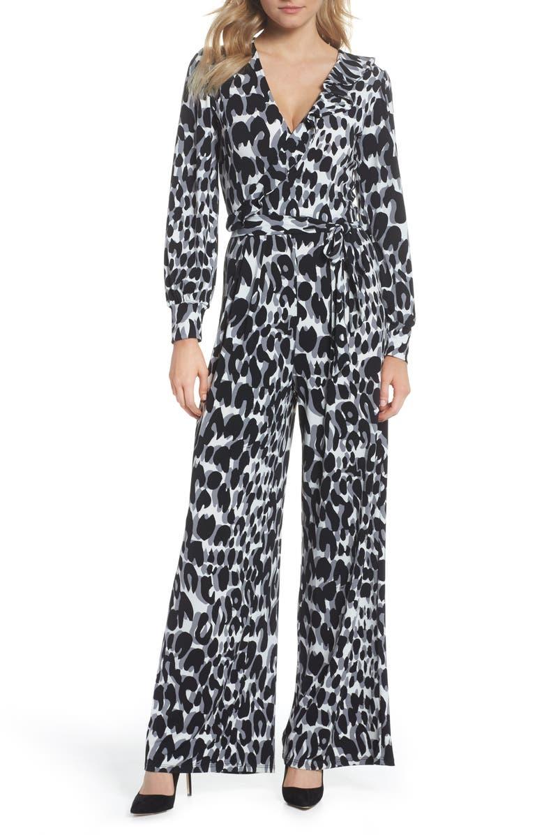 Julie Print Ruffle Jumpsuit