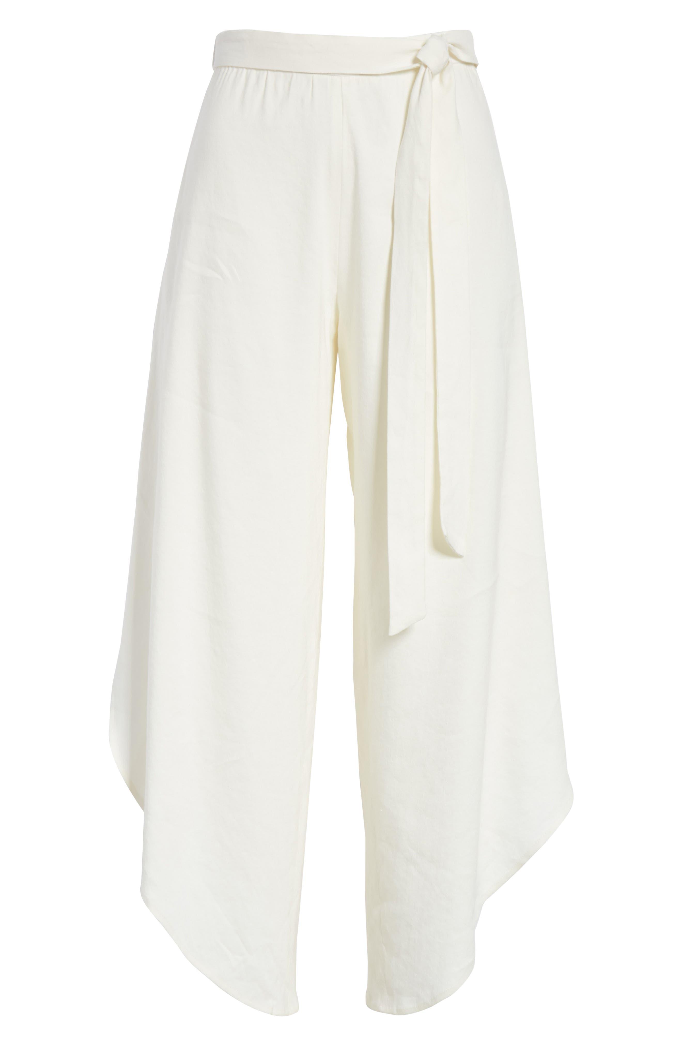Ezra Petal Pants,                             Alternate thumbnail 6, color,                             Off White
