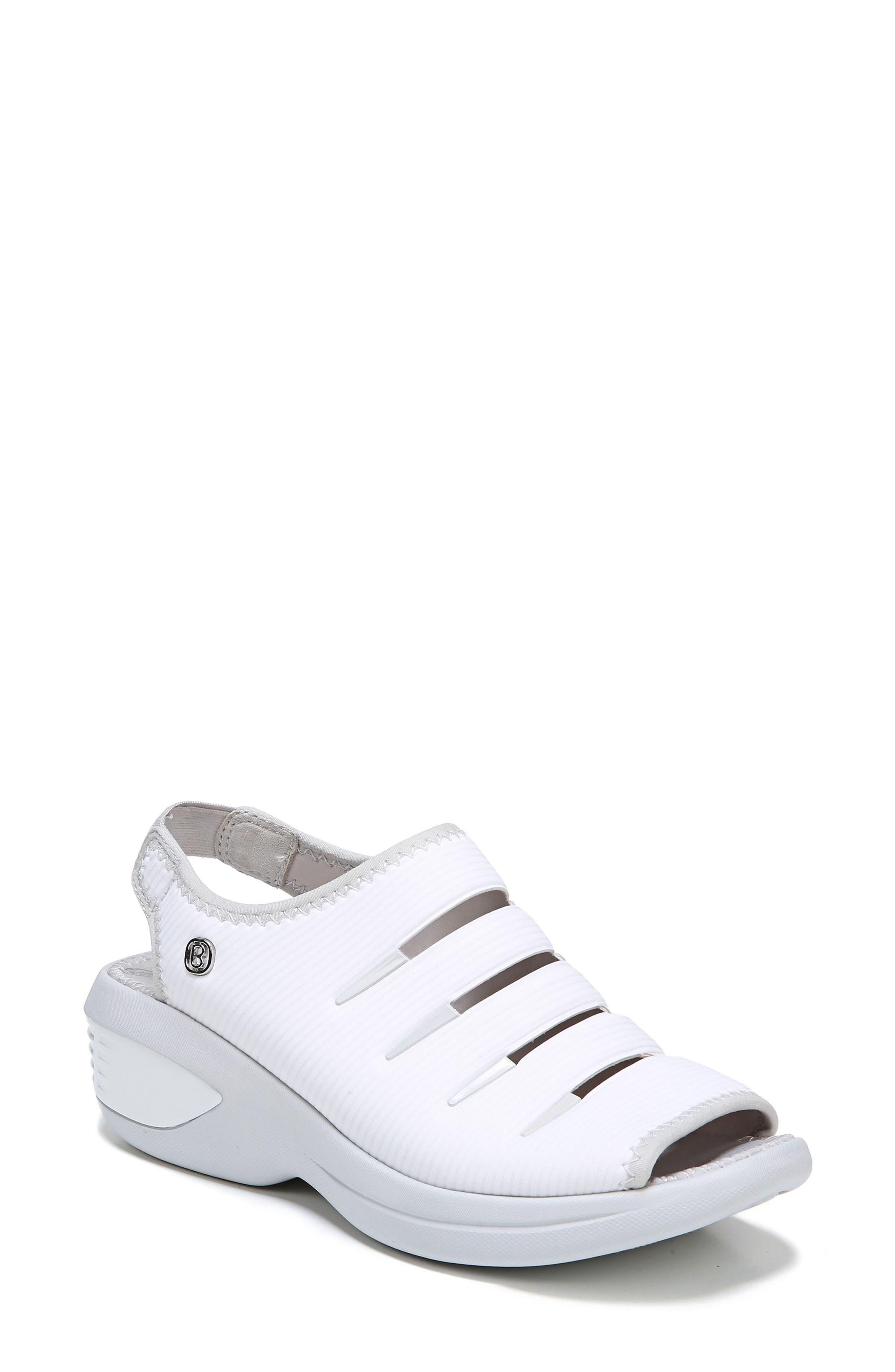 Foxy Sandal,                         Main,                         color, White Fabric