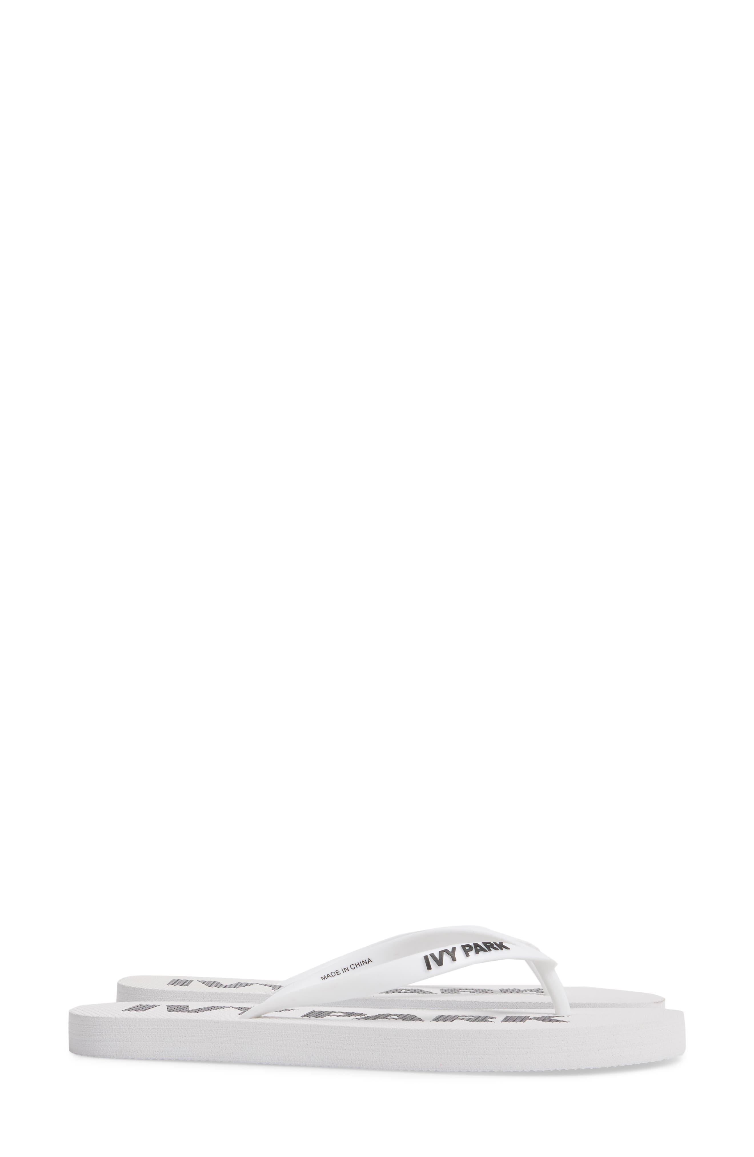 Logo Flip Flop,                             Alternate thumbnail 3, color,                             White