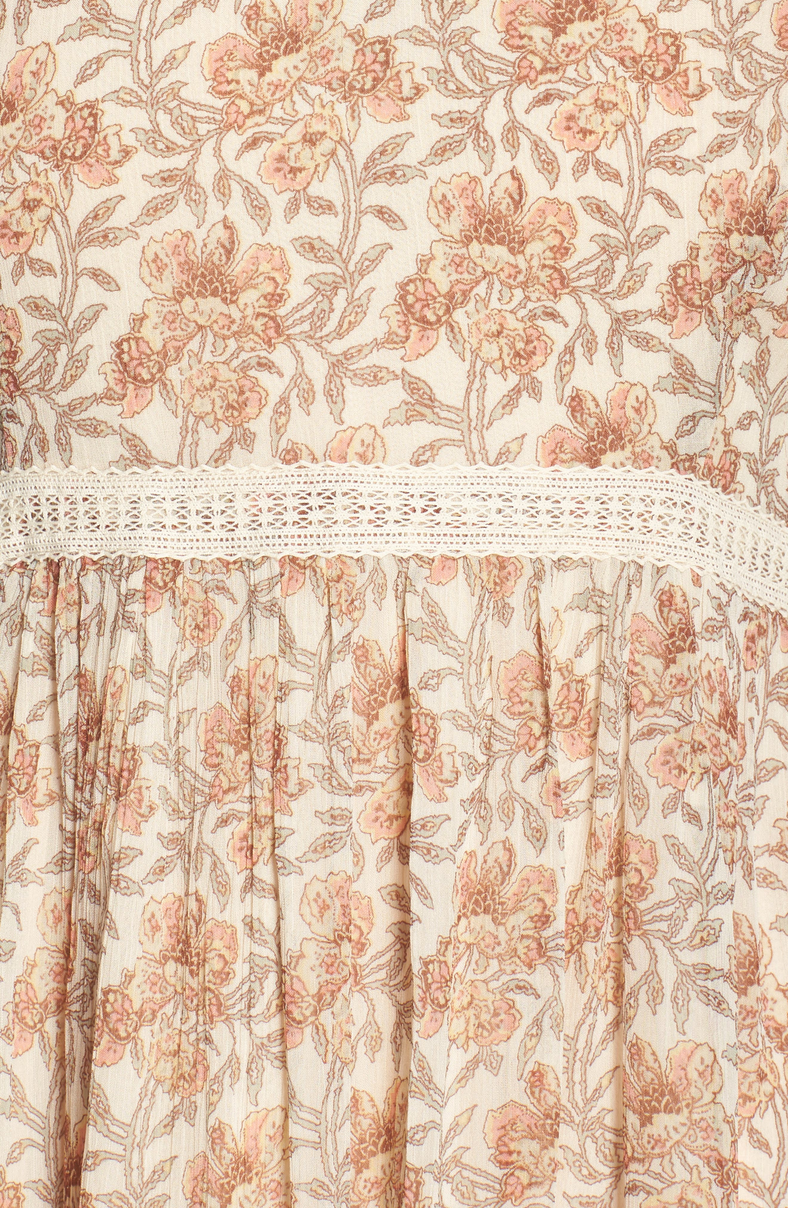 Aubrey Floral Print Dress,                             Alternate thumbnail 6, color,                             Desert Sunrise Floral