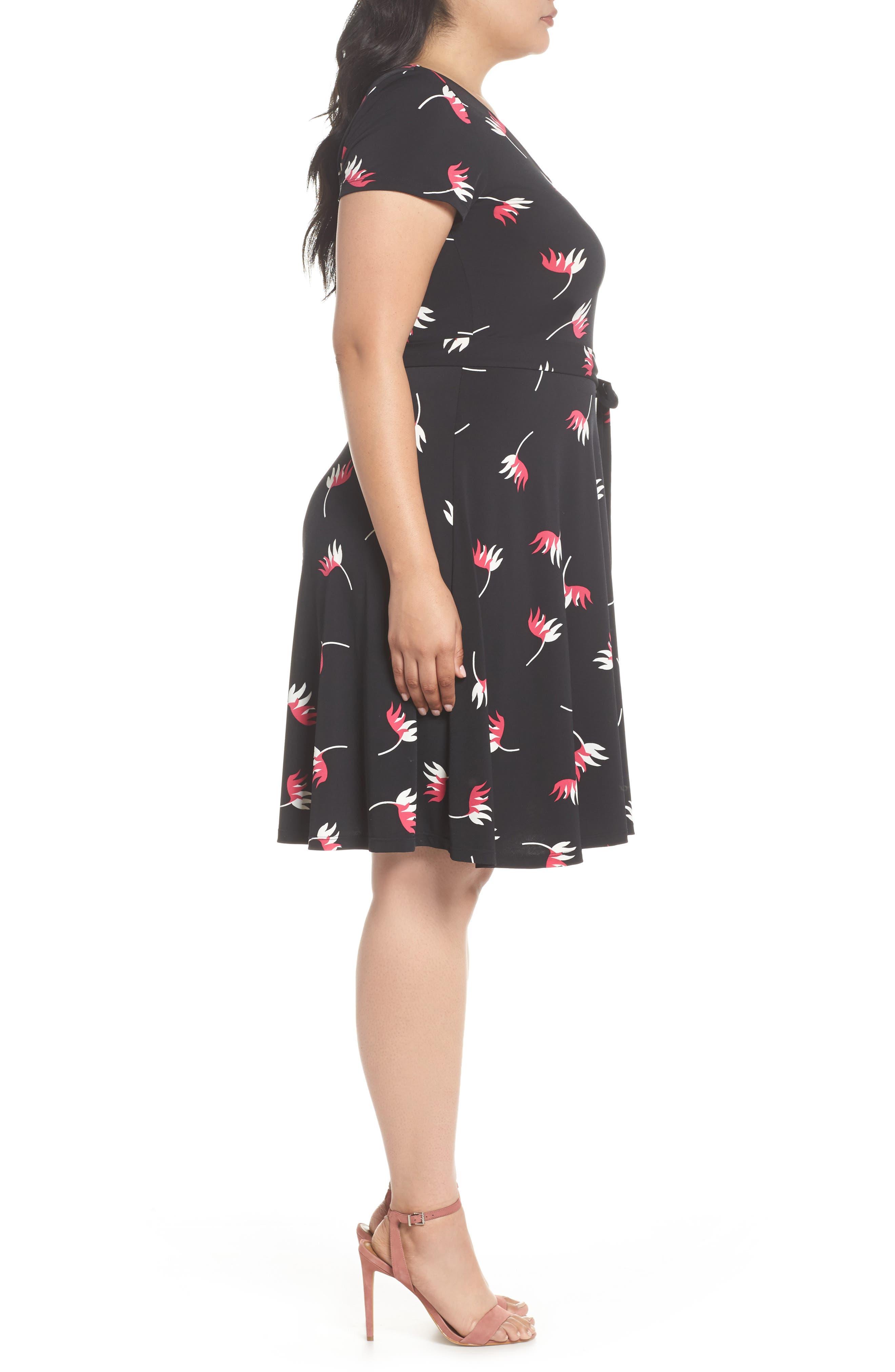 Llana Print Cap Sleeve A-Line Dress,                             Alternate thumbnail 2, color,                             Bird Of Paradise