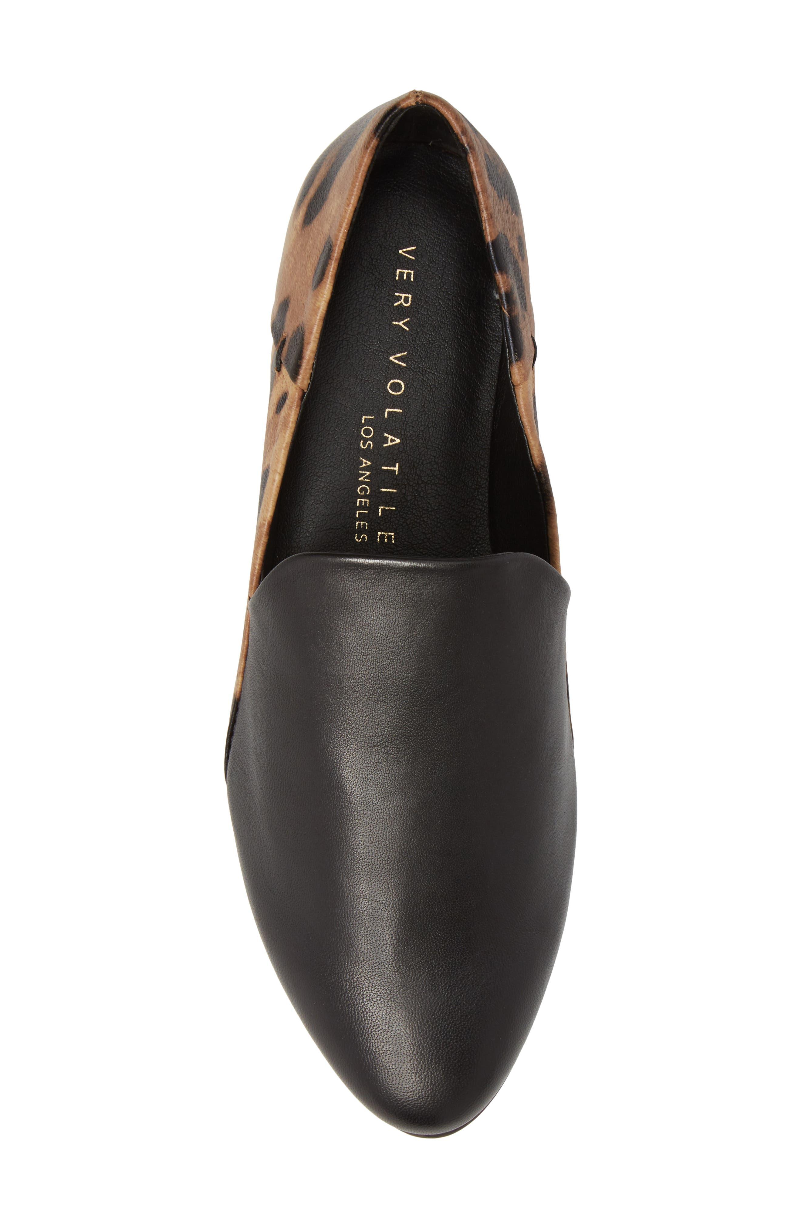 Gaga Flat,                             Alternate thumbnail 5, color,                             Black Leopard