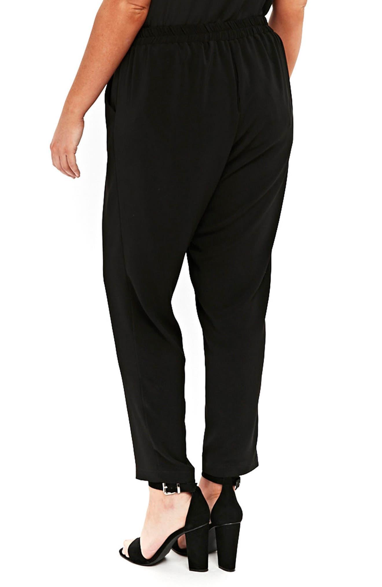 Ripple Tapered Pants,                             Alternate thumbnail 2, color,                             Black
