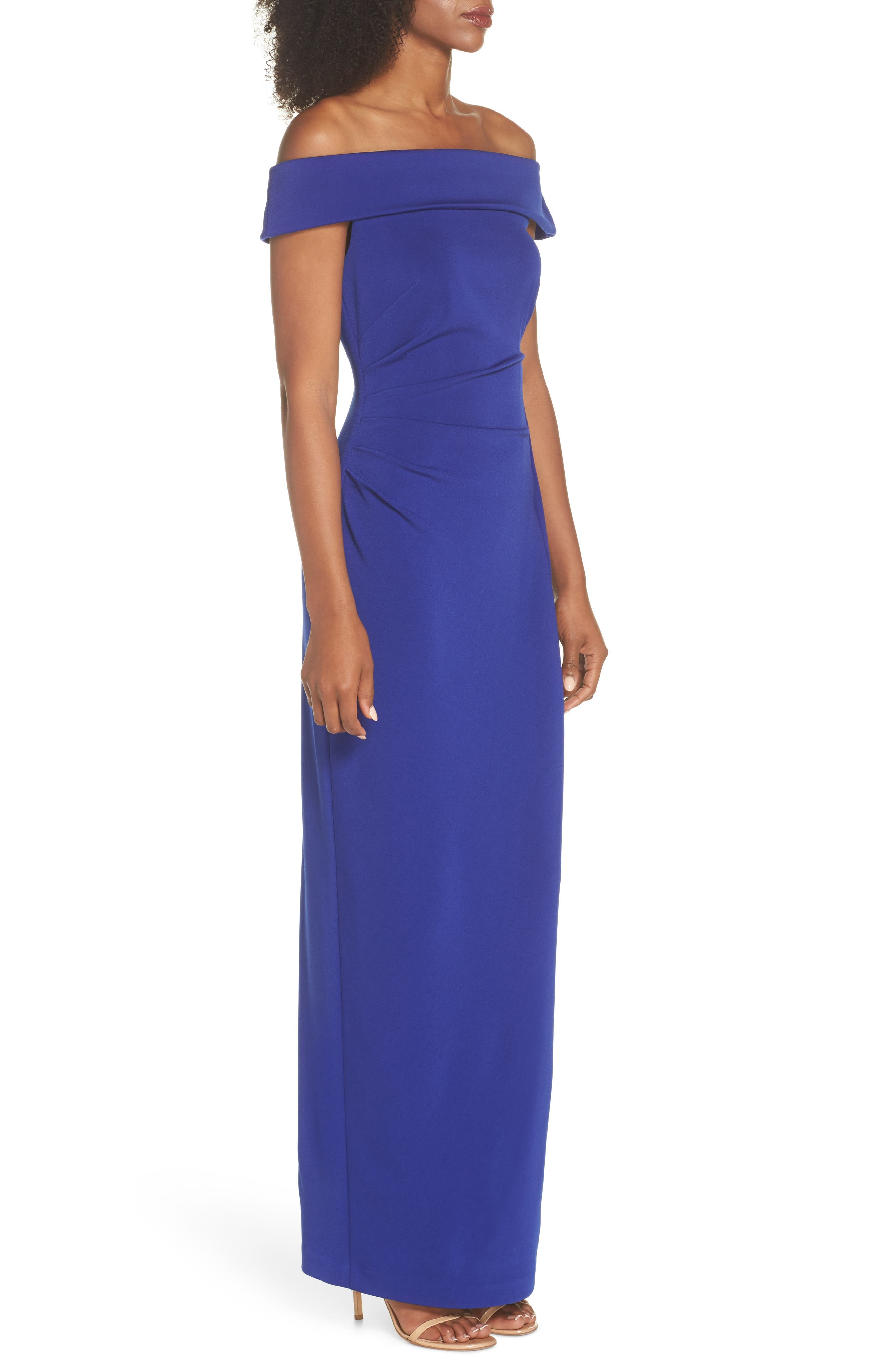 Off the Shoulder Gown,                             Alternate thumbnail 3, color,                             Royal