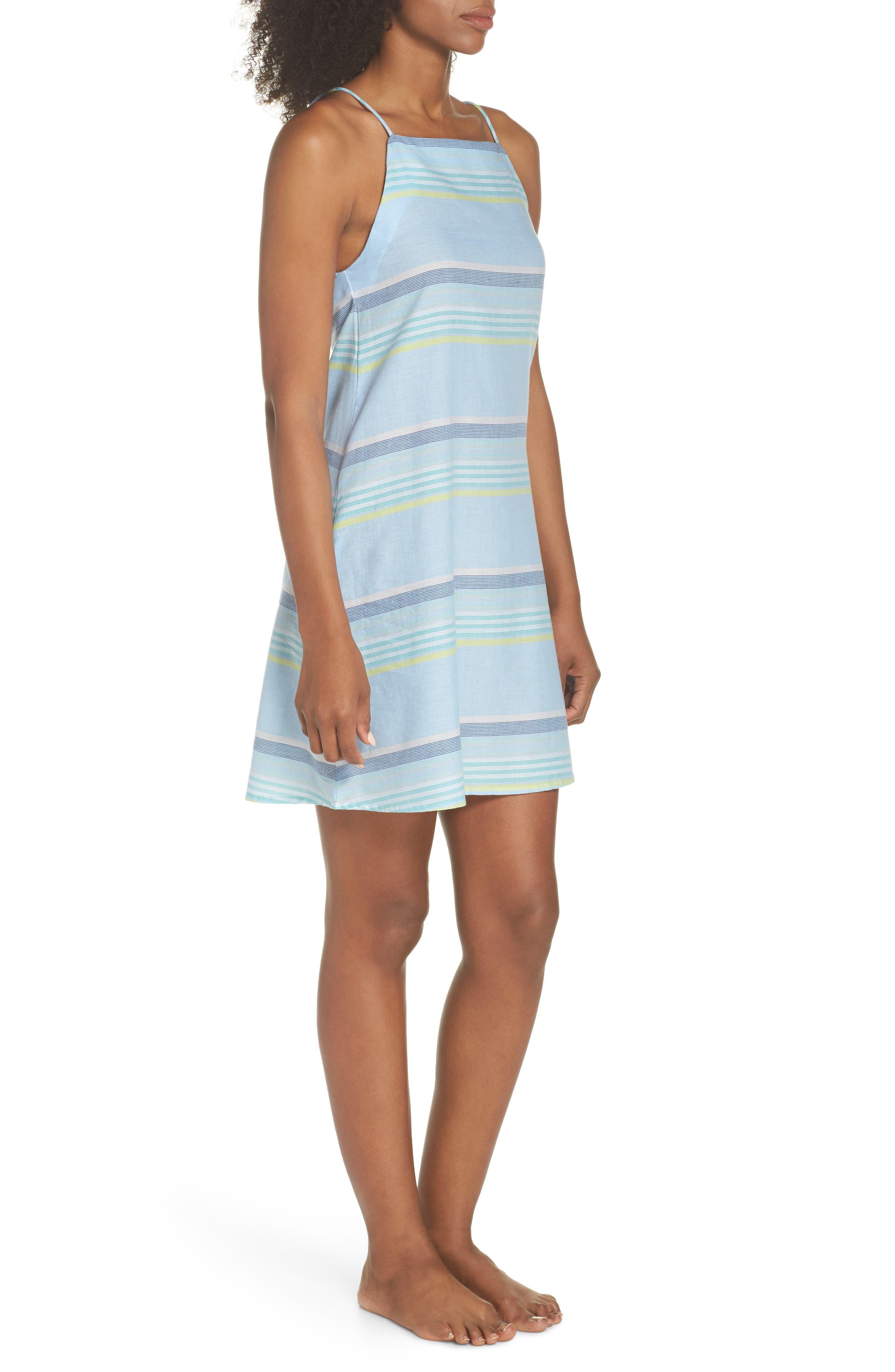 Sunset Stripe Cover-Up Dress,                             Alternate thumbnail 3, color,                             Sky Blue