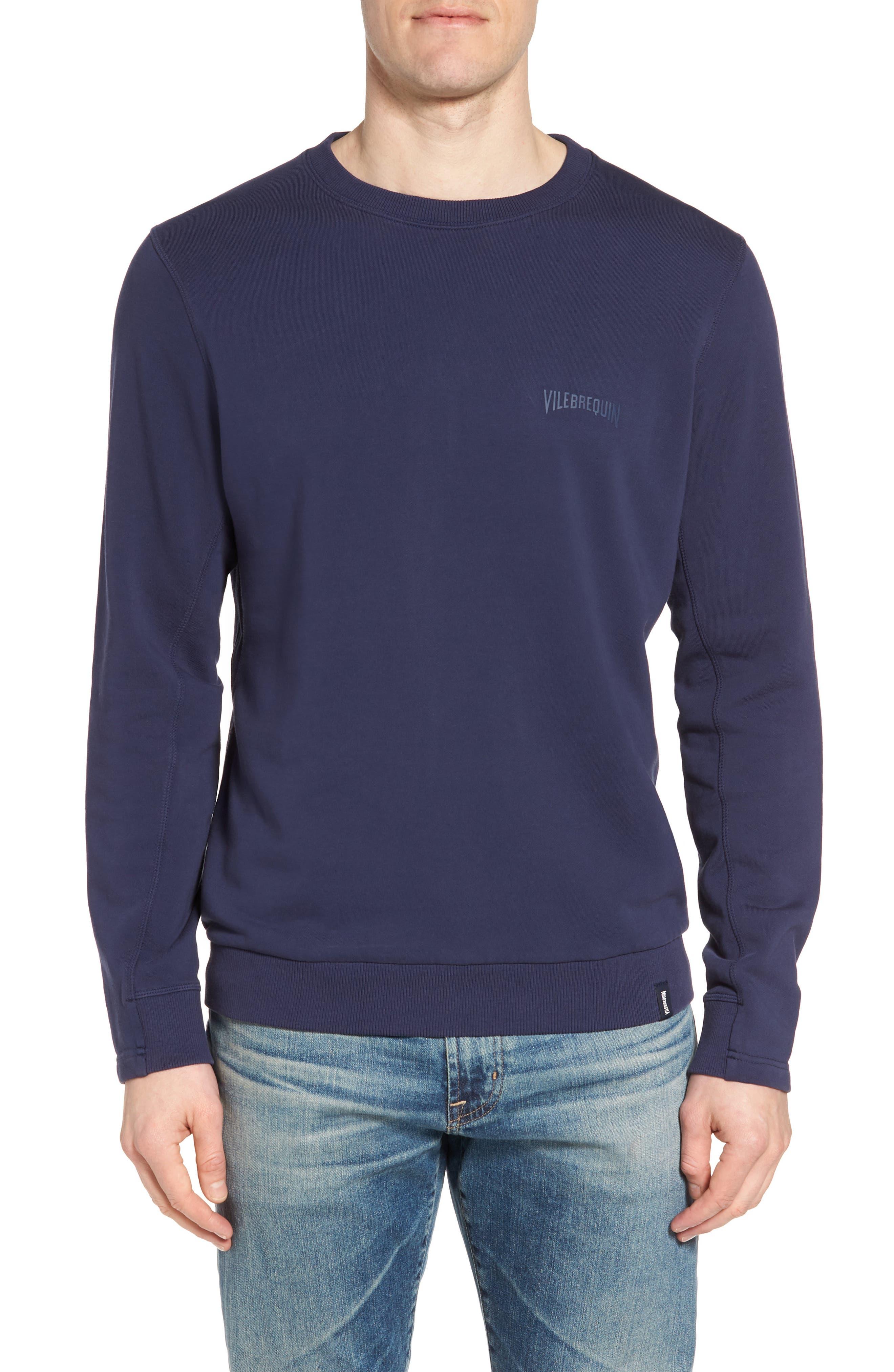 Diagonal Logo Sweatshirt,                         Main,                         color, Squid Ink