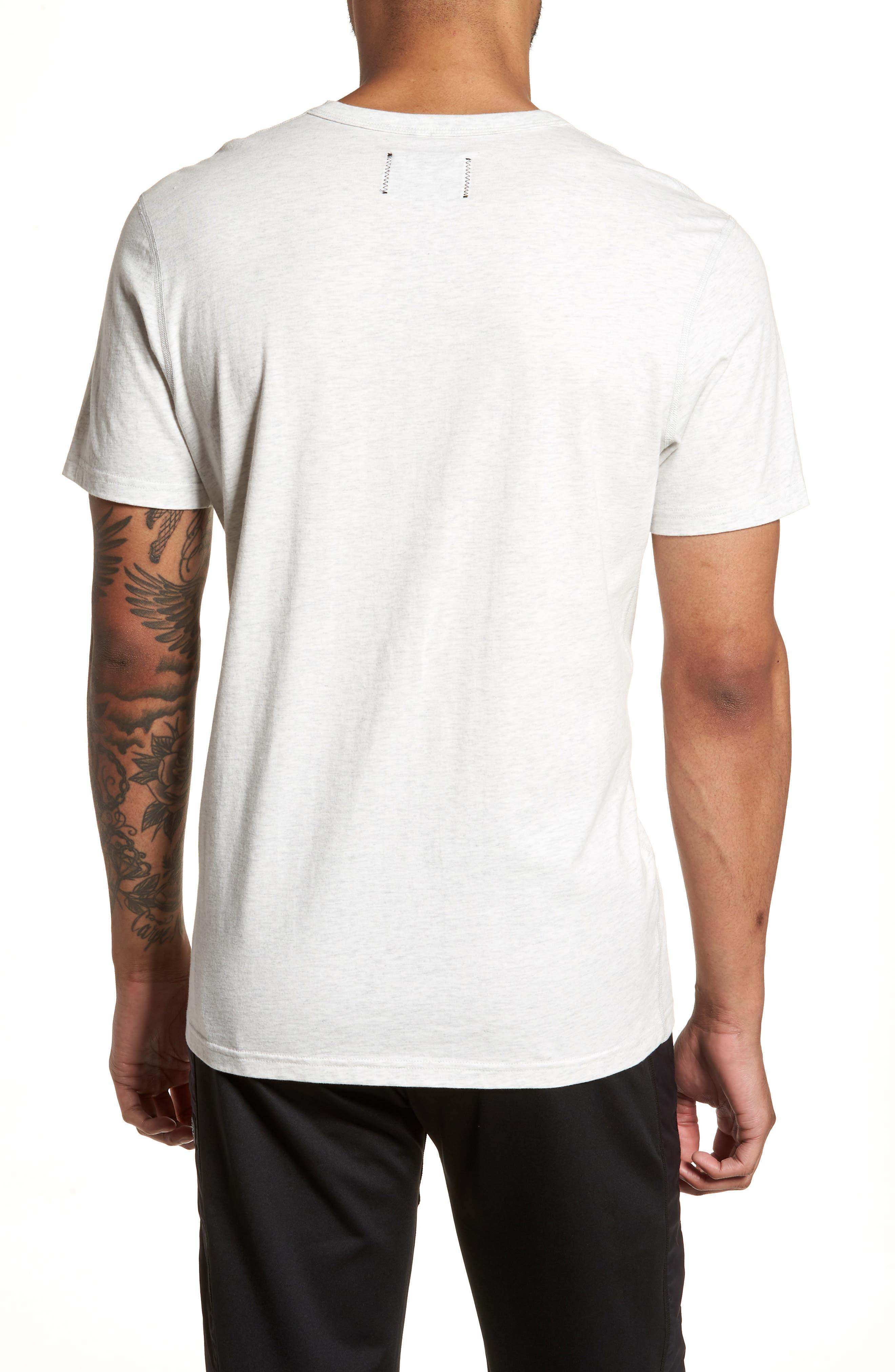 Logo T-Shirt,                             Alternate thumbnail 2, color,                             Heather Ash/ Black