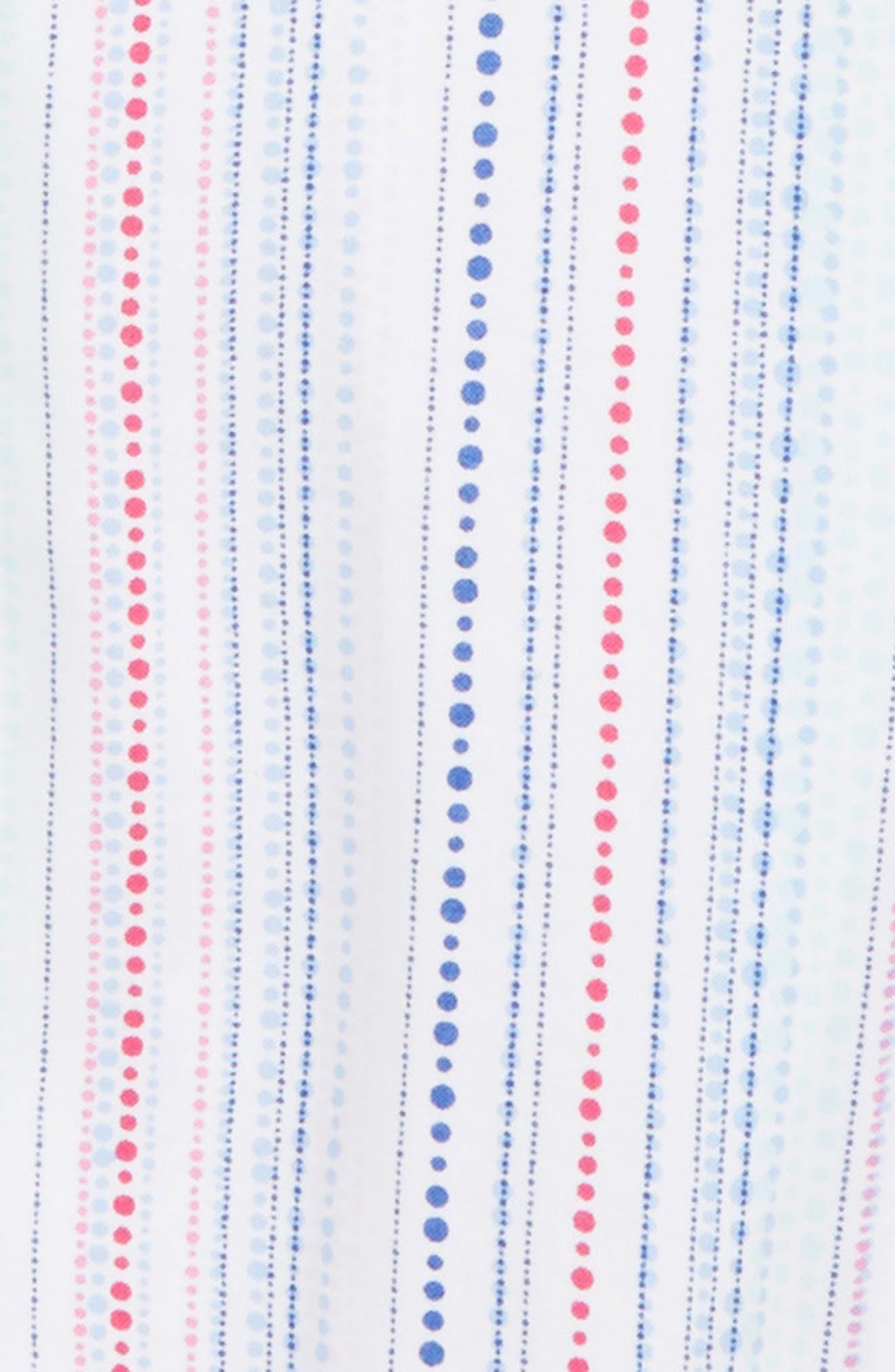 Dot Front Tie Top,                             Alternate thumbnail 2, color,                             White