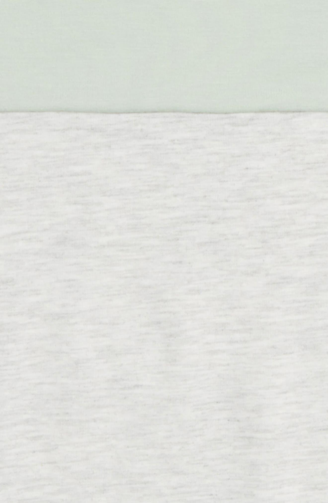 Colorblock Tee,                             Alternate thumbnail 2, color,                             White/ Mint