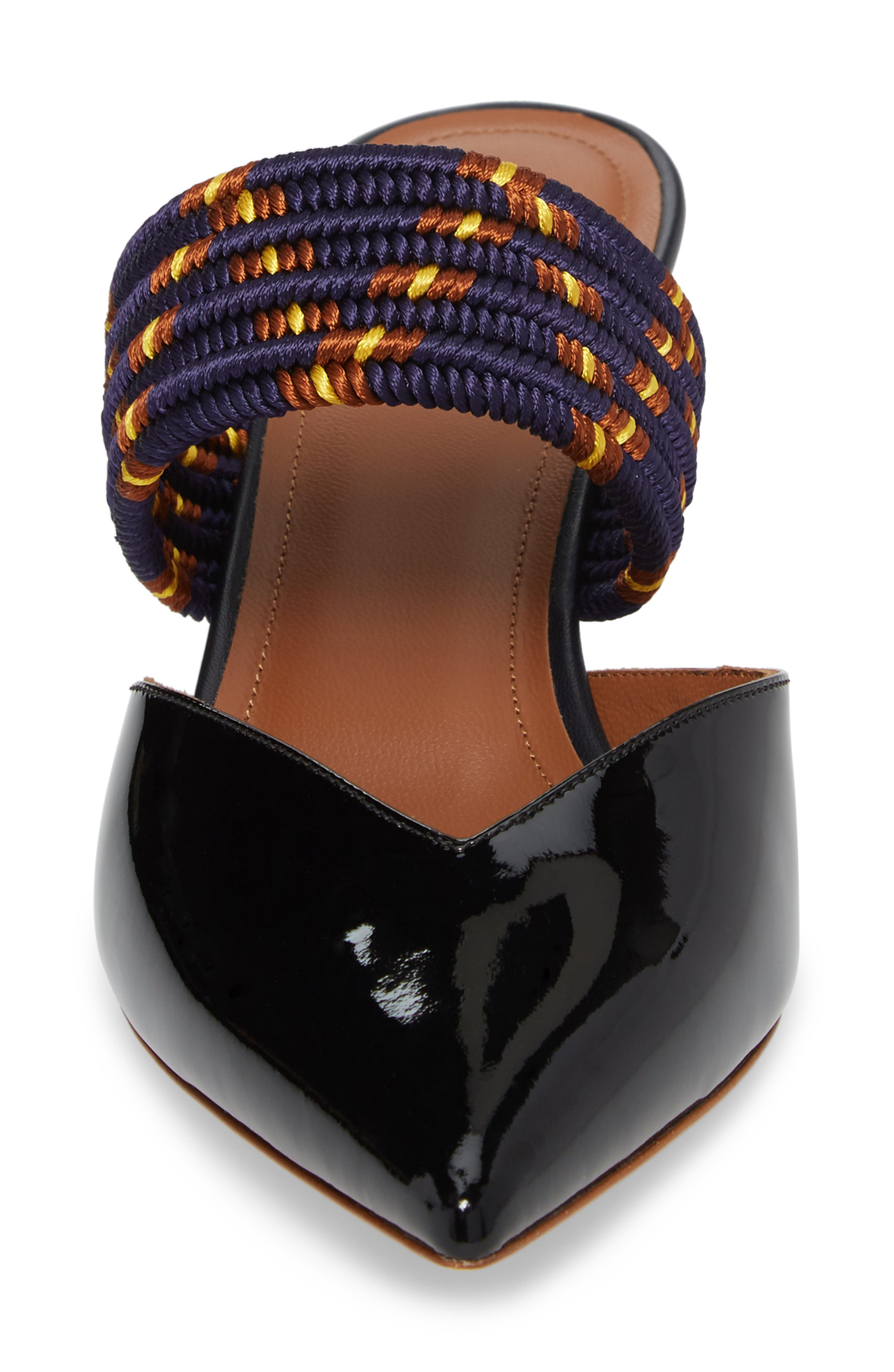 Maisie Banded Mule,                             Alternate thumbnail 4, color,                             Black
