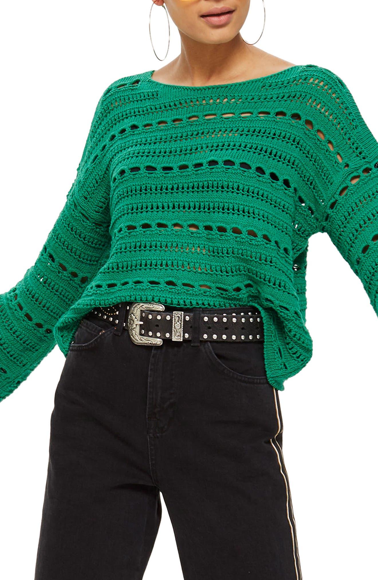 Topshop Open Stitch Sweater