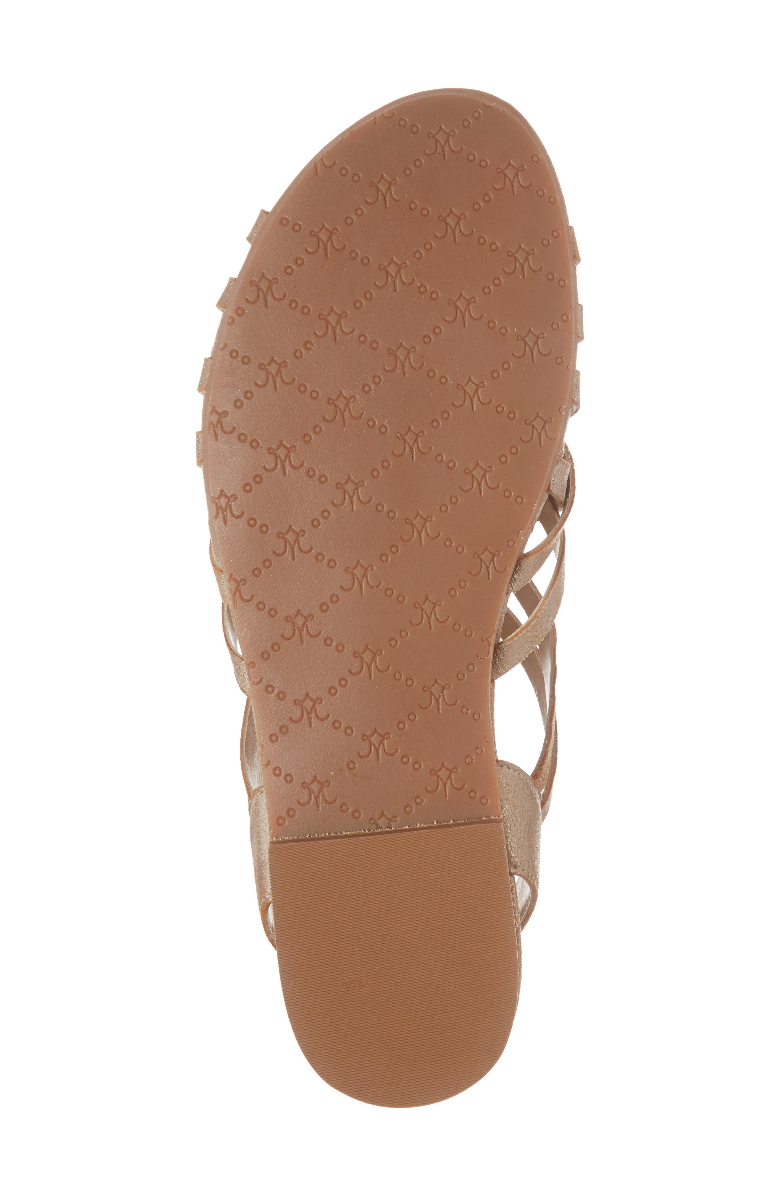 Hallie Sandal,                             Alternate thumbnail 6, color,                             Copper Leather