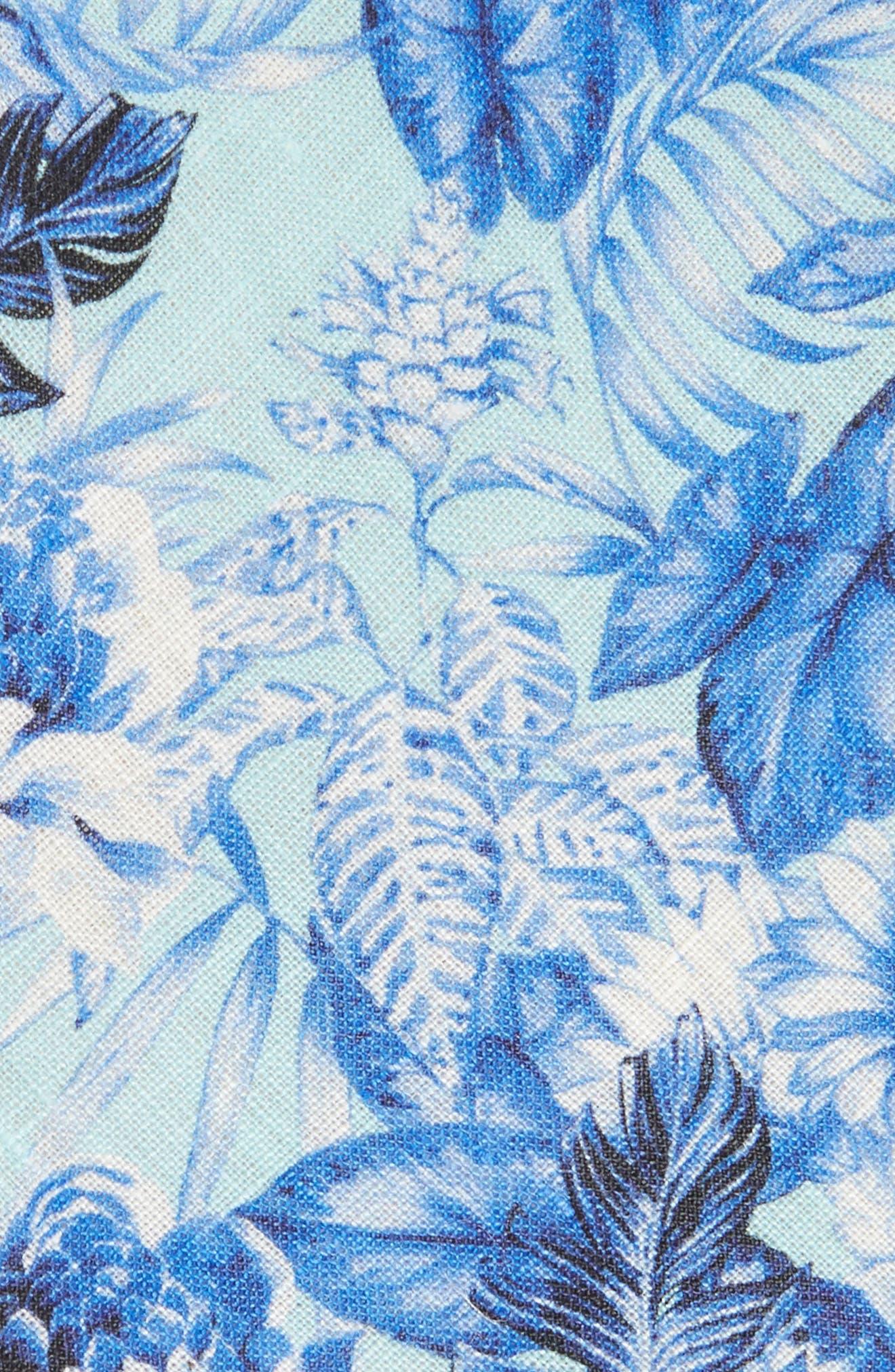 Tropic Fever Linen Tie,                             Alternate thumbnail 2, color,                             Island Paradise