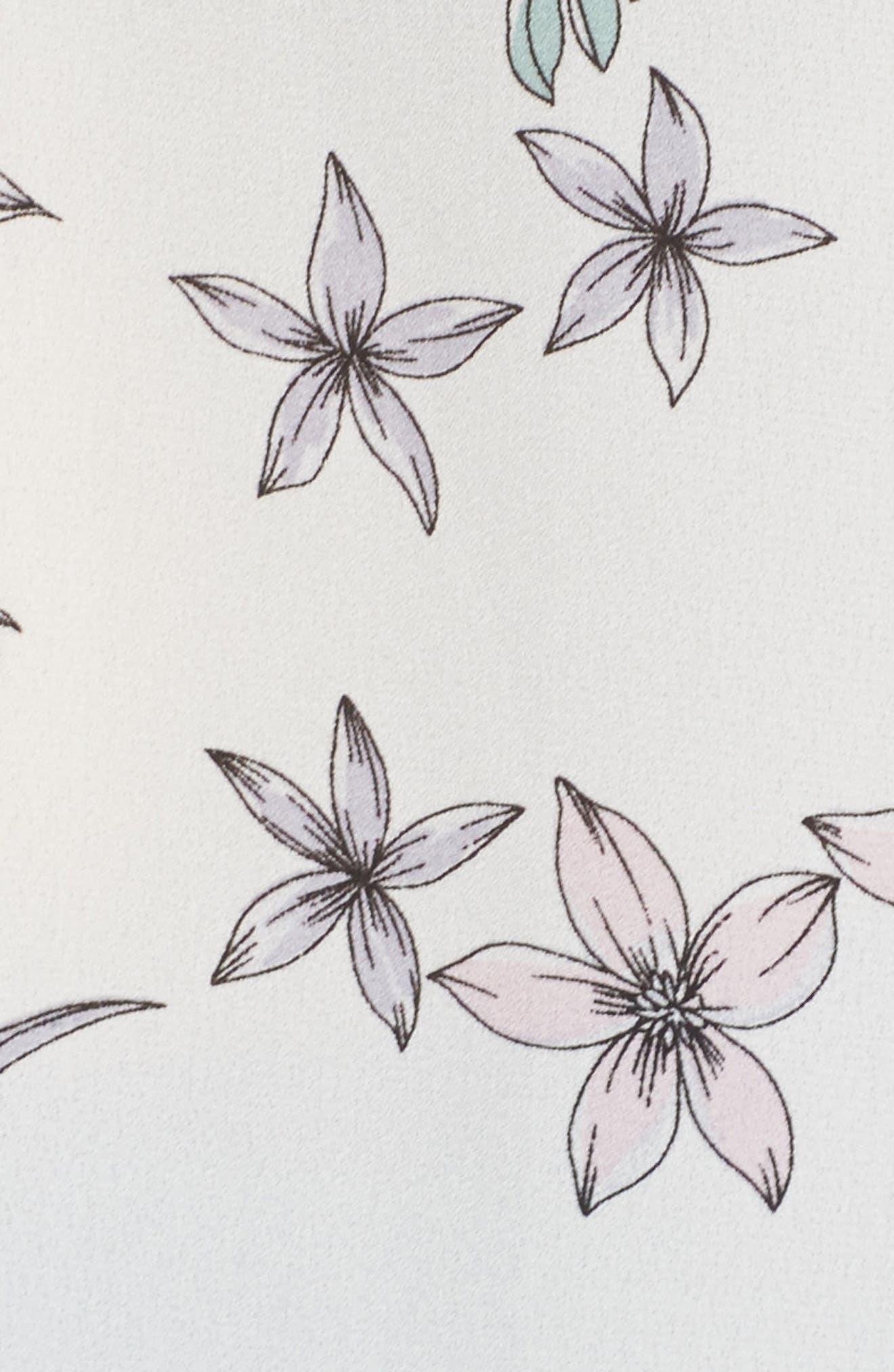 Botanical Sleeveless Top,                             Alternate thumbnail 5, color,                             New Ivory