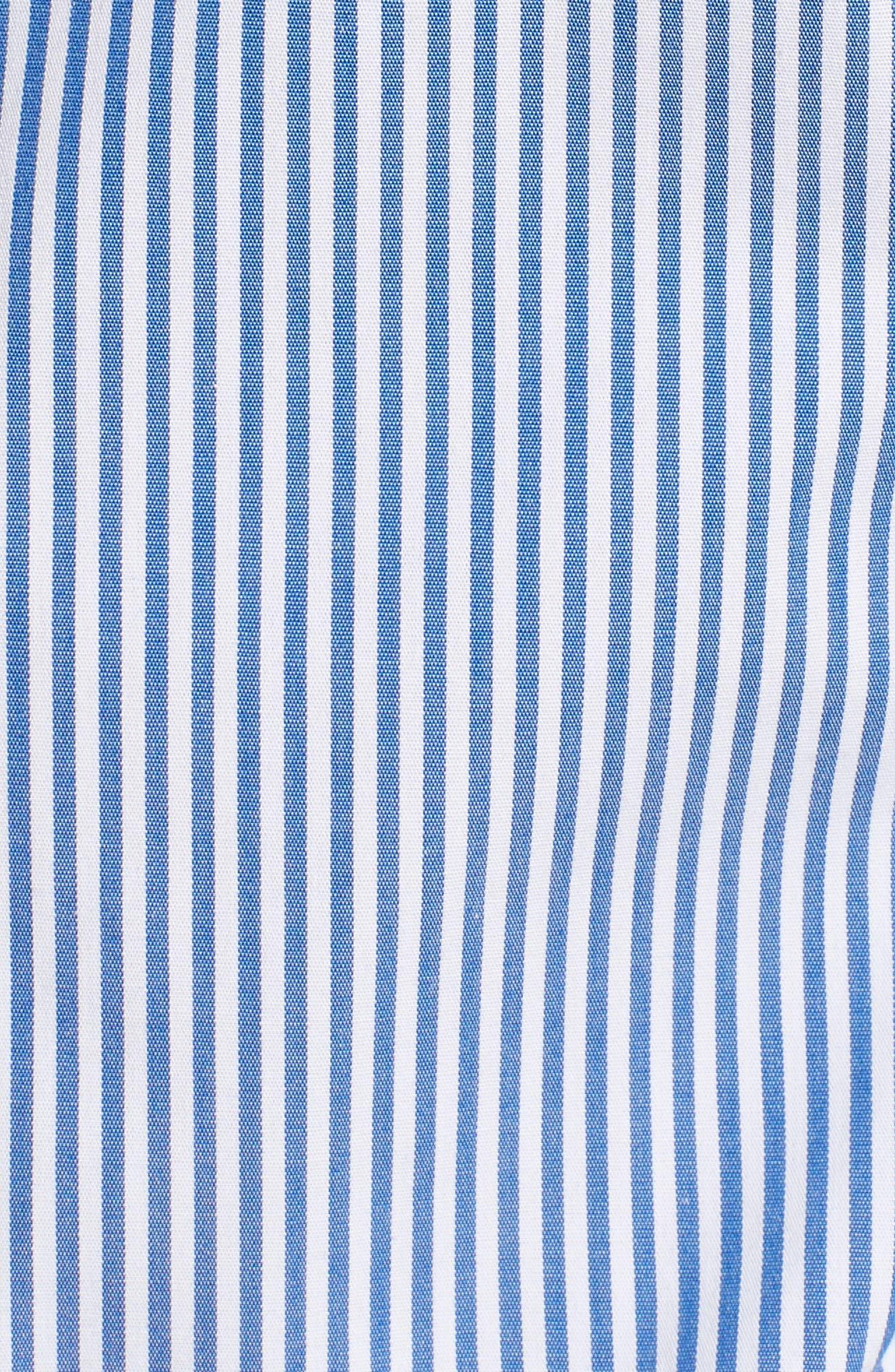 Alternate Image 5  - J.Crew Perfect Classic Stripe Stretch Cotton Shirt (Regular & Petite)