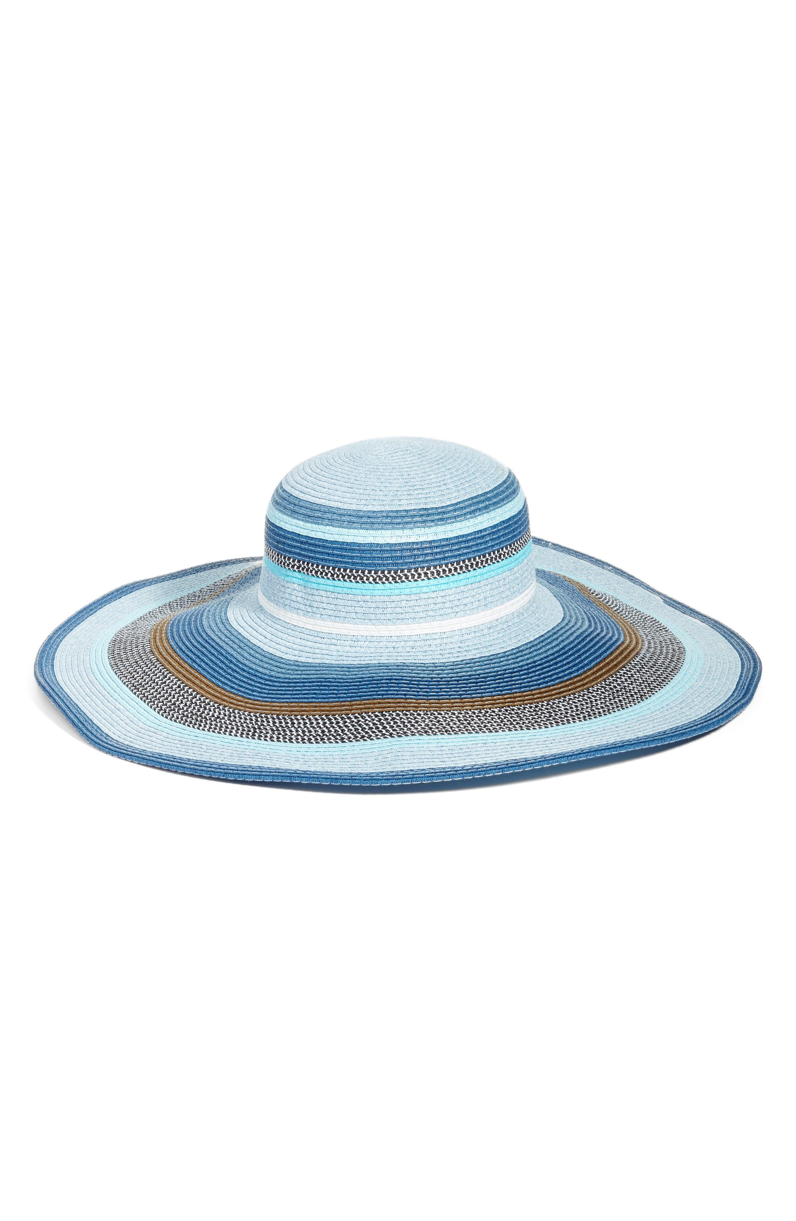Byron Floppy Straw Hat,                         Main,                         color, Navy