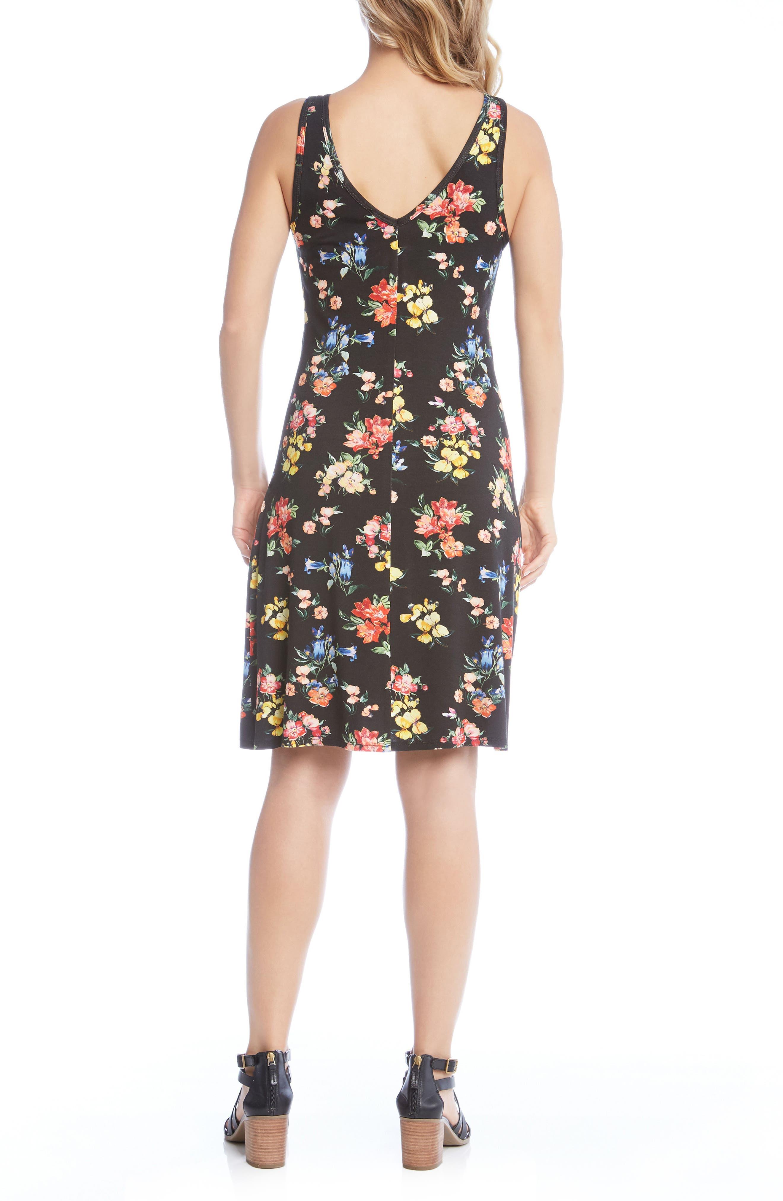 Brigitte V-Neck Dress,                             Alternate thumbnail 3, color,                             Floral